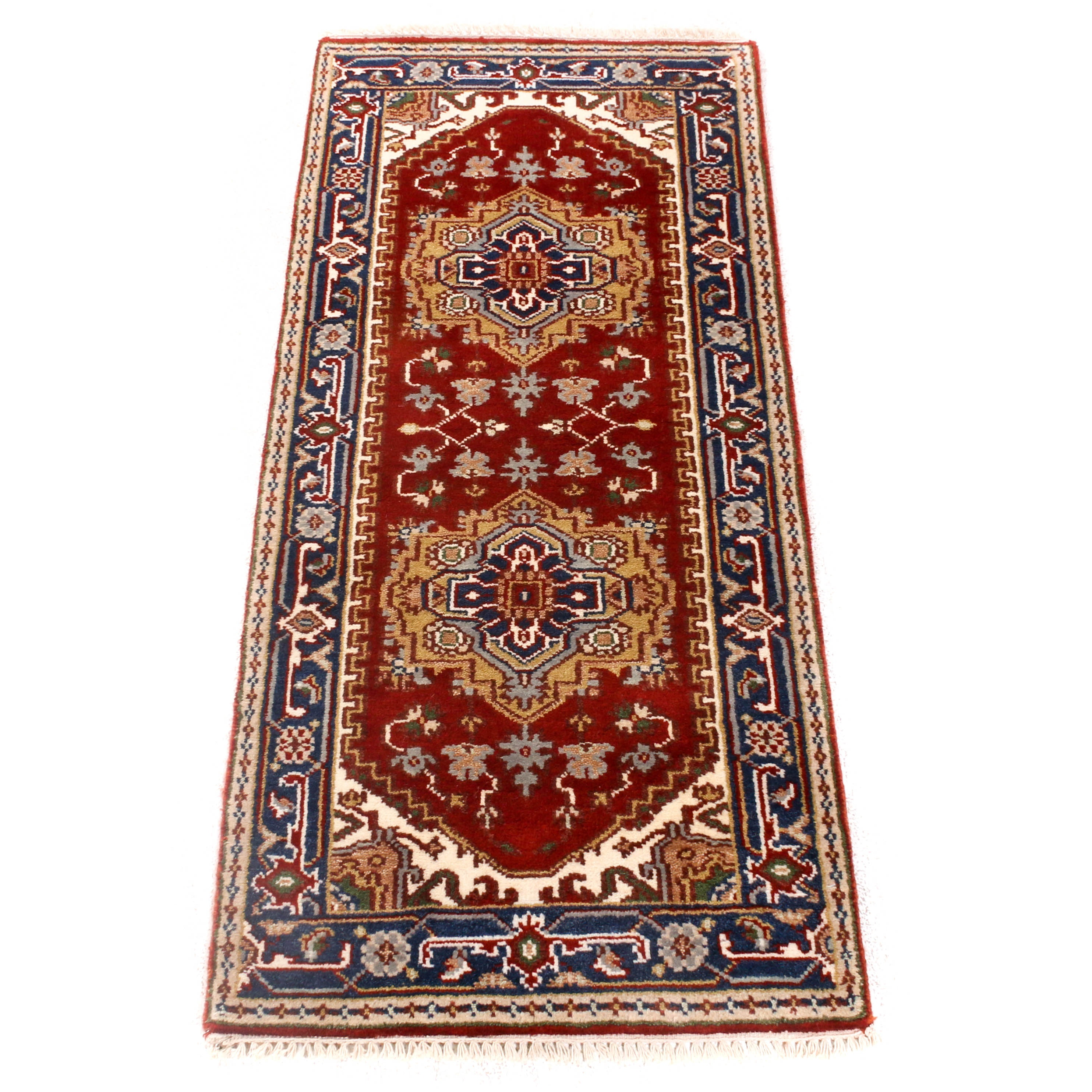 Hand-Knotted Indo-Persian Heriz Rug