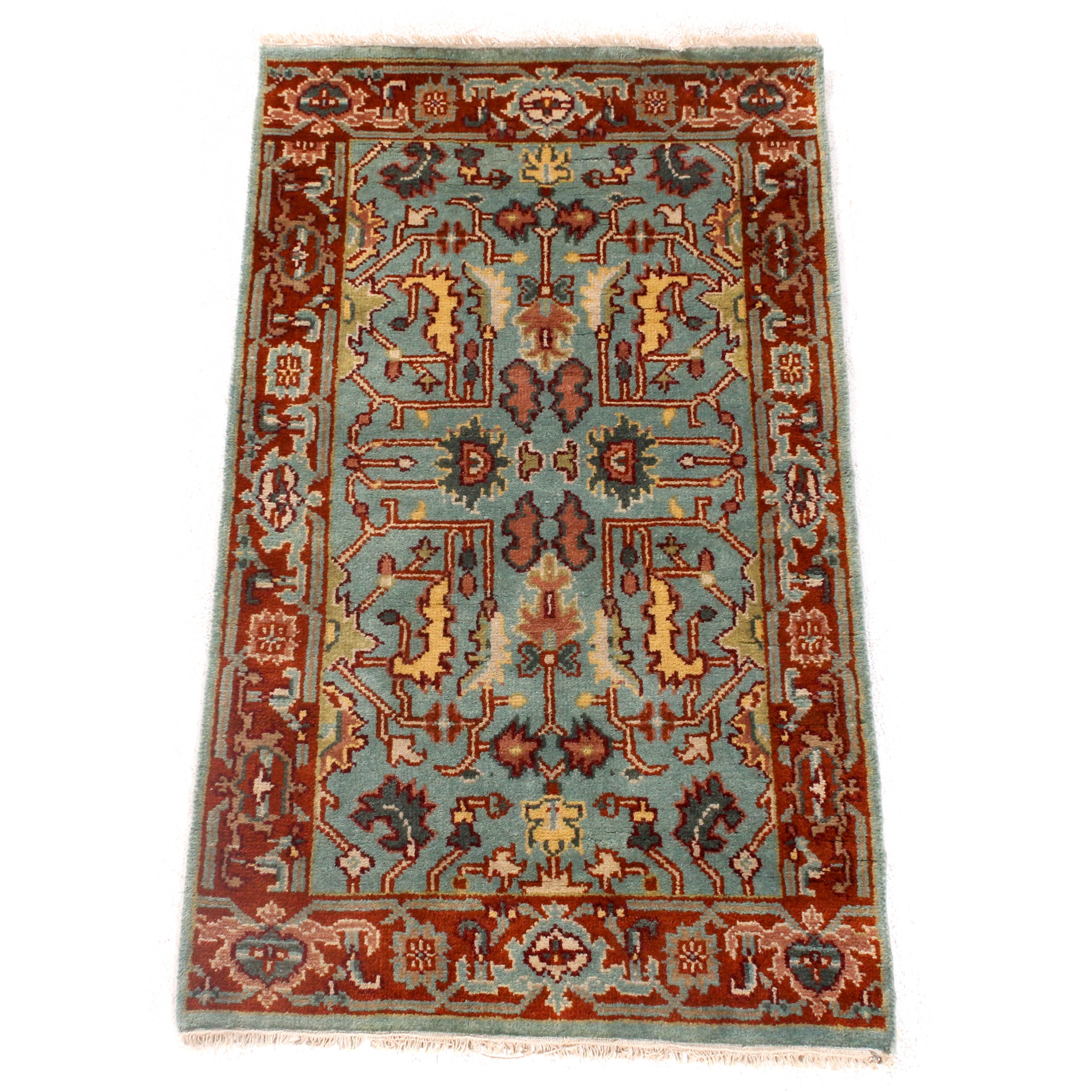 Hand-Knotted Indo-Persian Bakhshayesh Rug