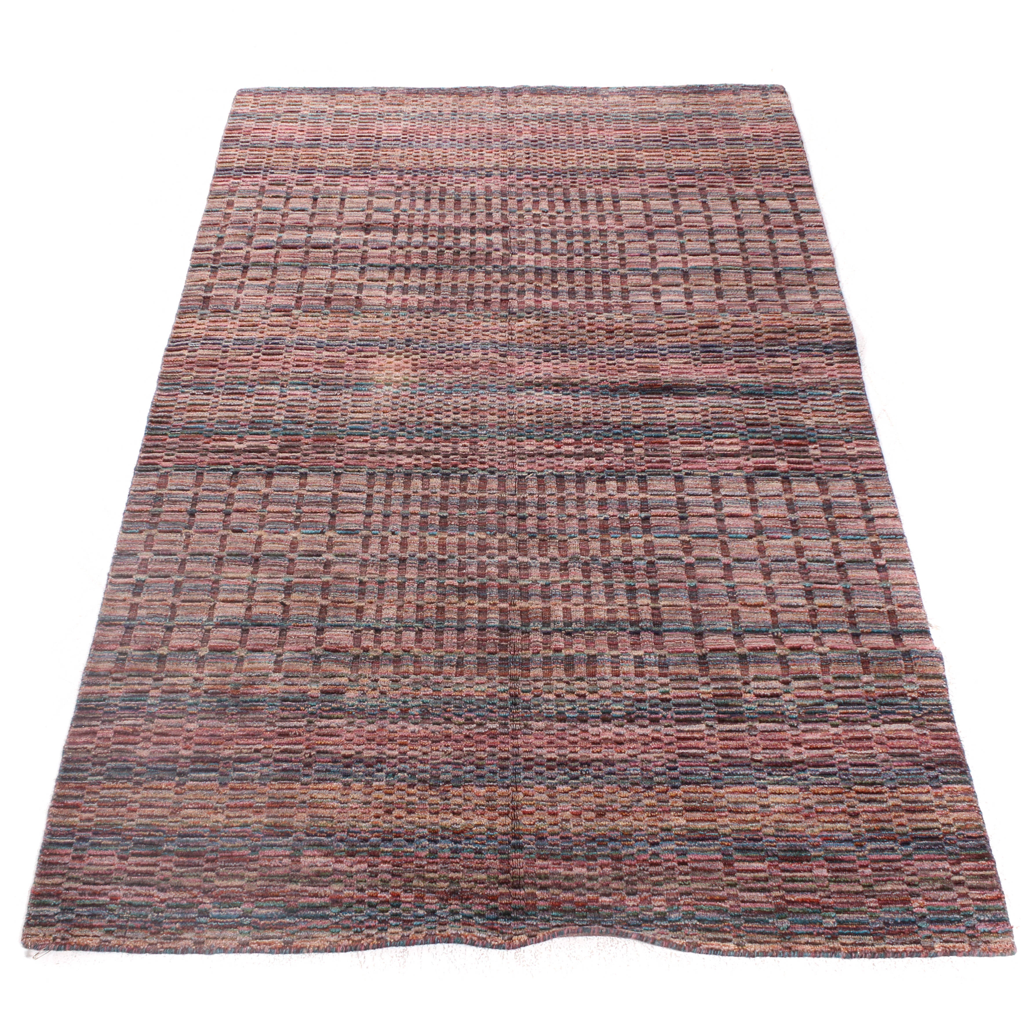 Hand-Knotted Indo-Persian Gabbeh Rug