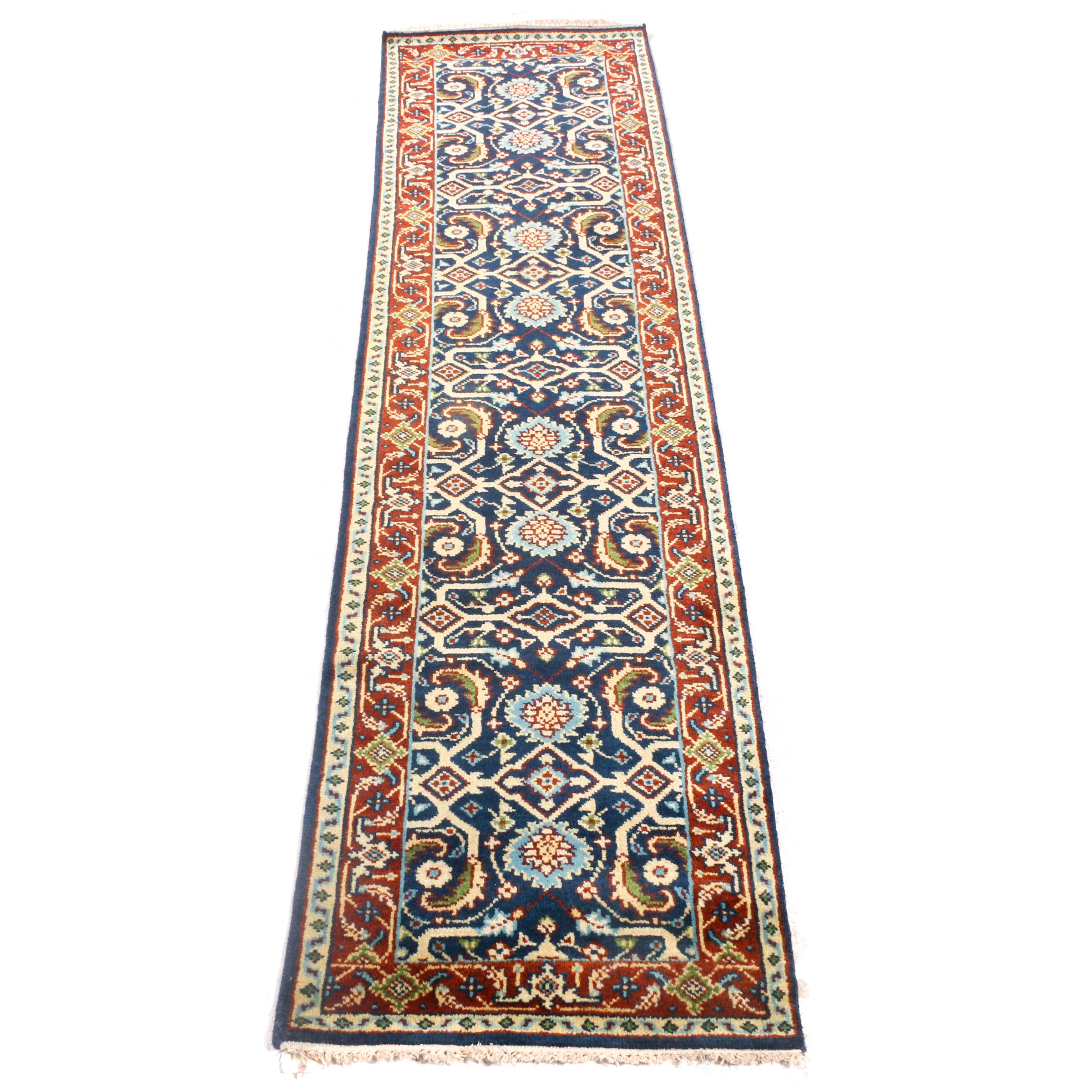 Hand-Knotted Indo-Persian Mahal Carpet Runner