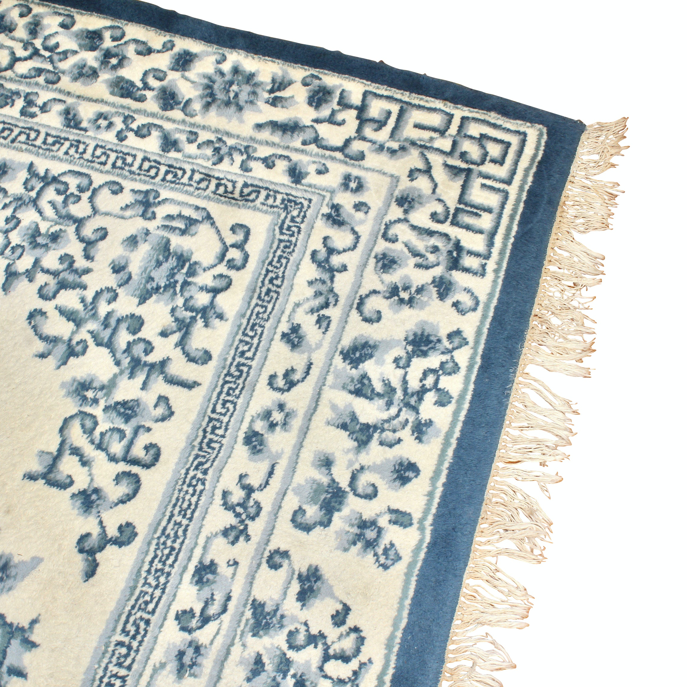 """Hand-Knotted Couristan Indian """"Peking Ming"""" Wool Area Rug"""