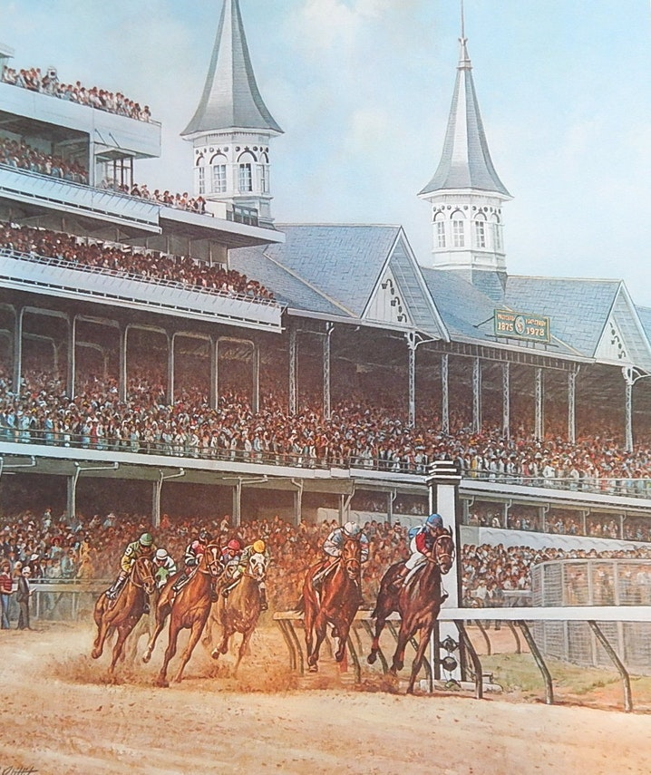 "Charles W. Vittitow Offset Lithograph ""The Kentucky Derby"""