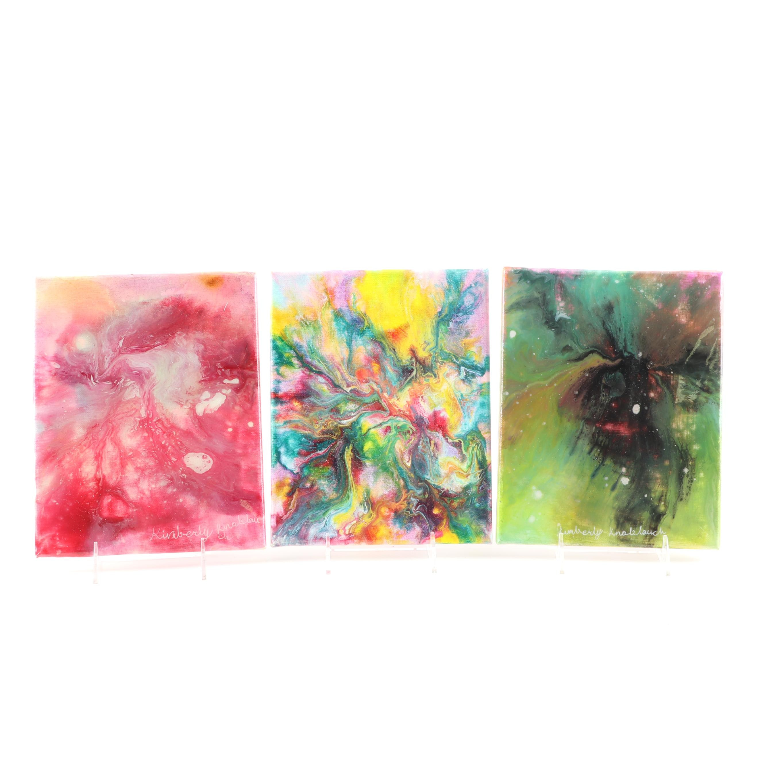 Kimberly Knoblauch Abstract Acrylic Paintings