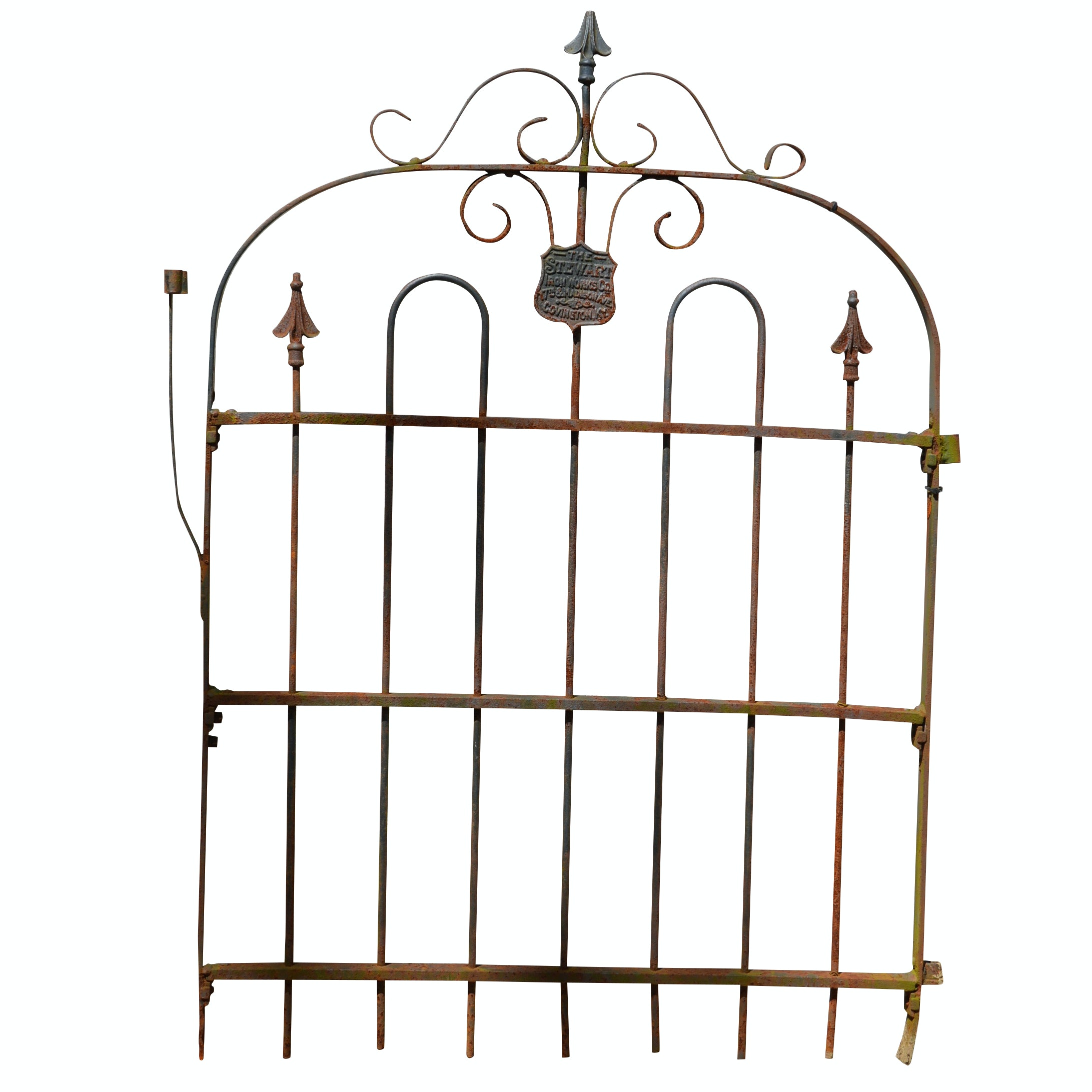 Vintage Stewart Ironworks Wrought Iron Gate