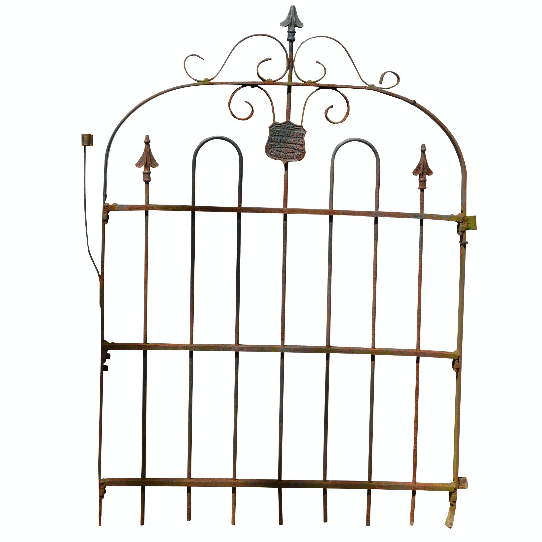 Vintage Stewart Ironworks Wrought Iron Gate
