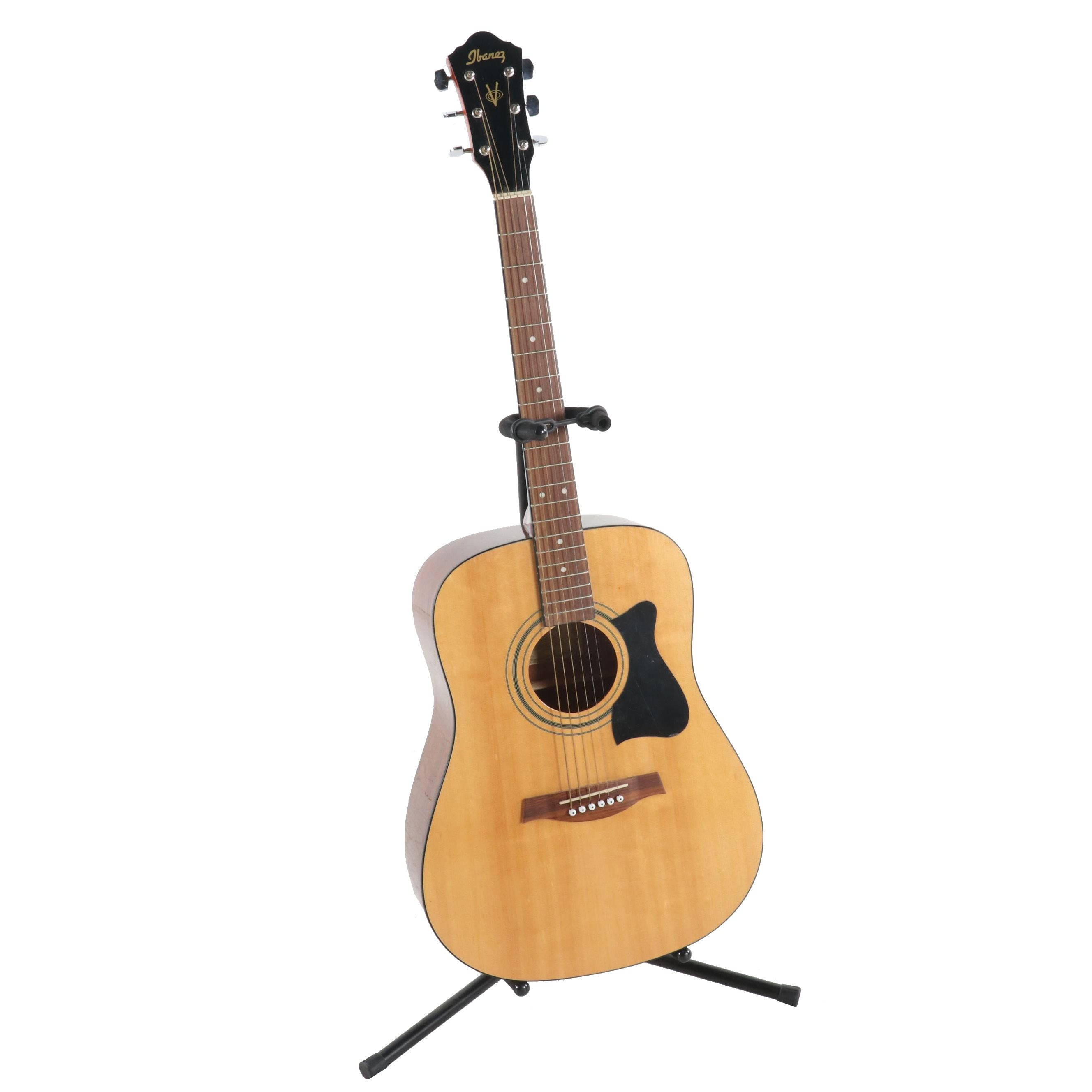 Ibanez Acoustic Guitar with Stand