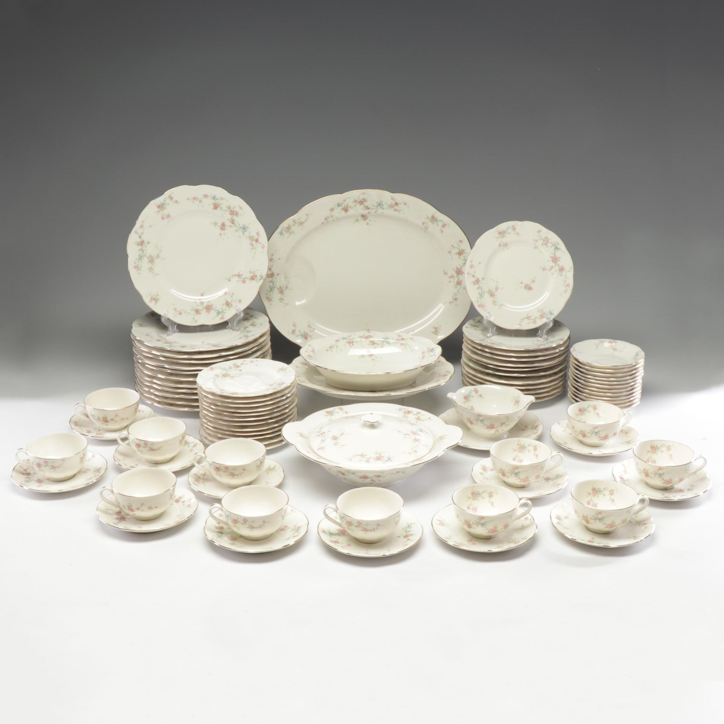 "Theodore Haviland ""Rosanne"" Porcelain Dinnerware Set"