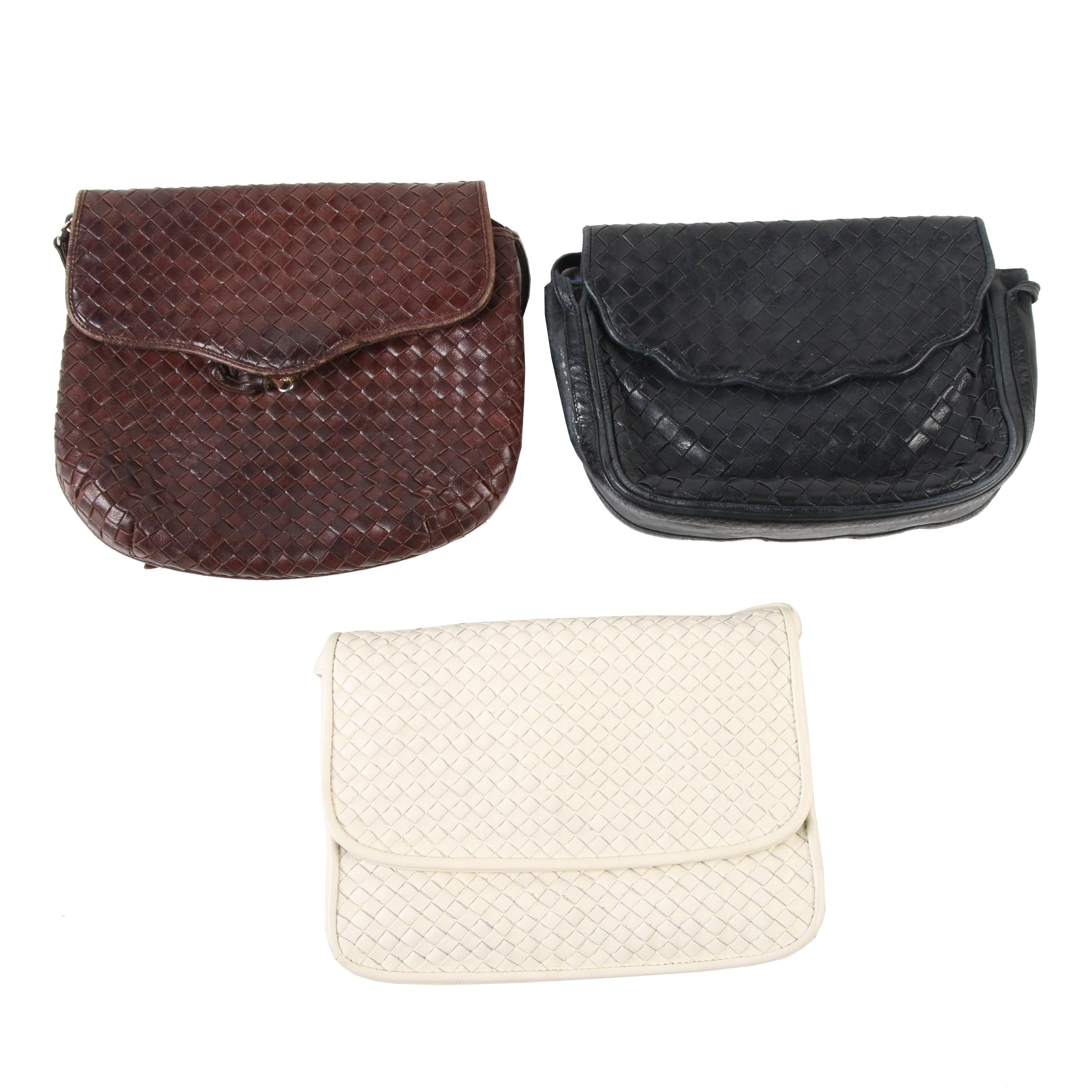 Woven Leather Shoulder Bags Including Brio!