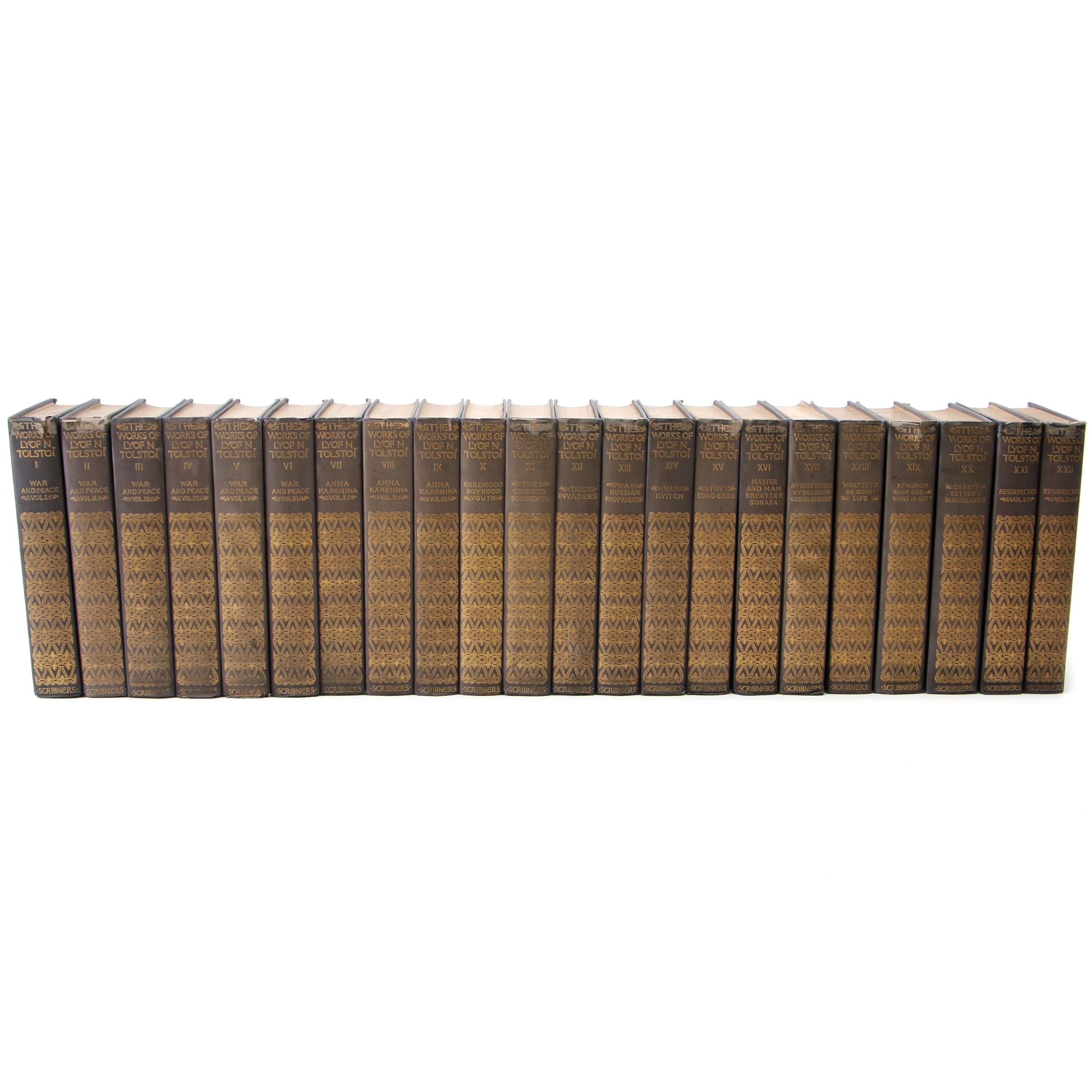 """1899 """"The Novels and Other Works of Lyof N. Tolstoï"""" Complete Set"""