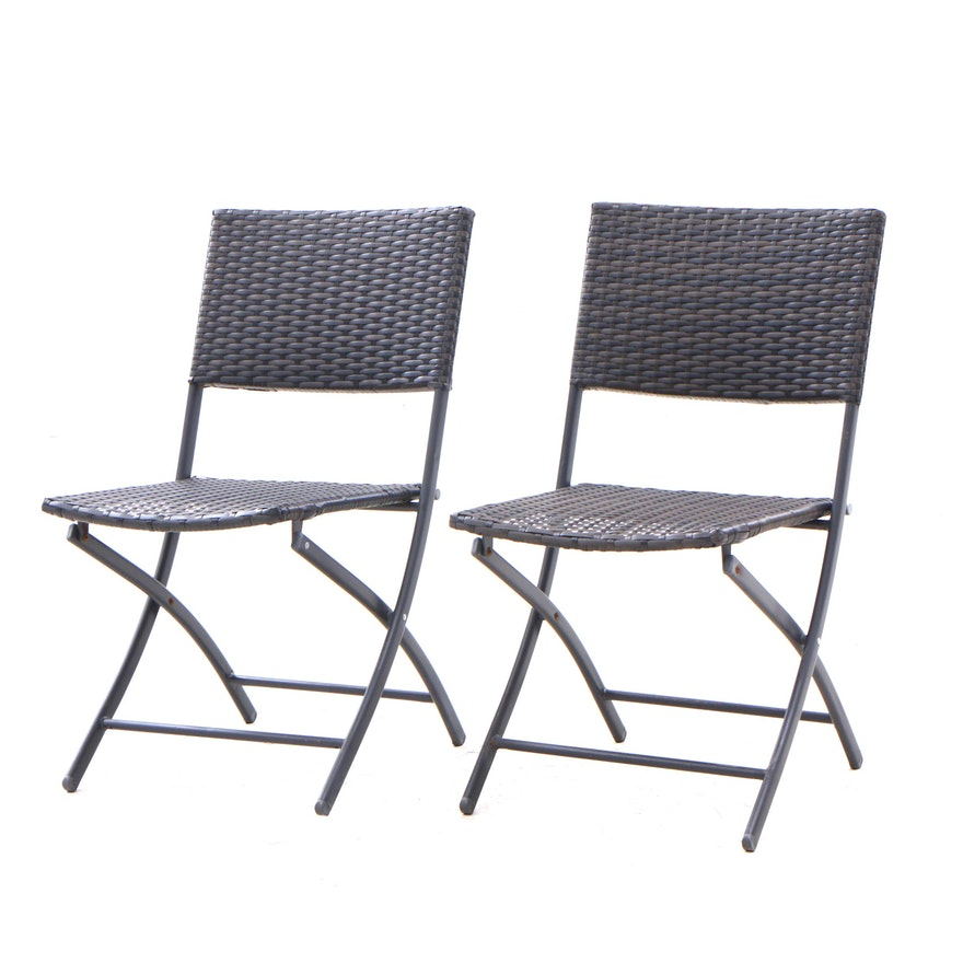 Terrific Synthetic Woven Folding Patio Chairs Bralicious Painted Fabric Chair Ideas Braliciousco