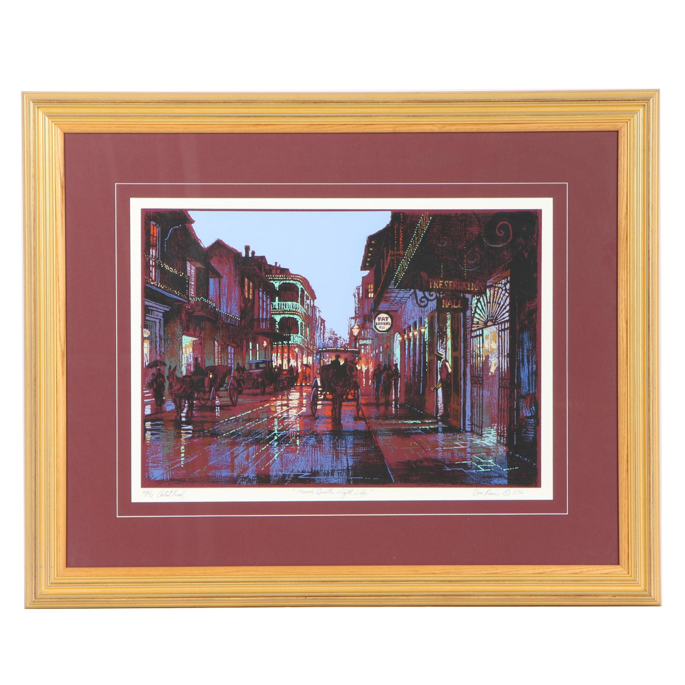 "Don Picou Serigraph ""French Quarter Night Life"""