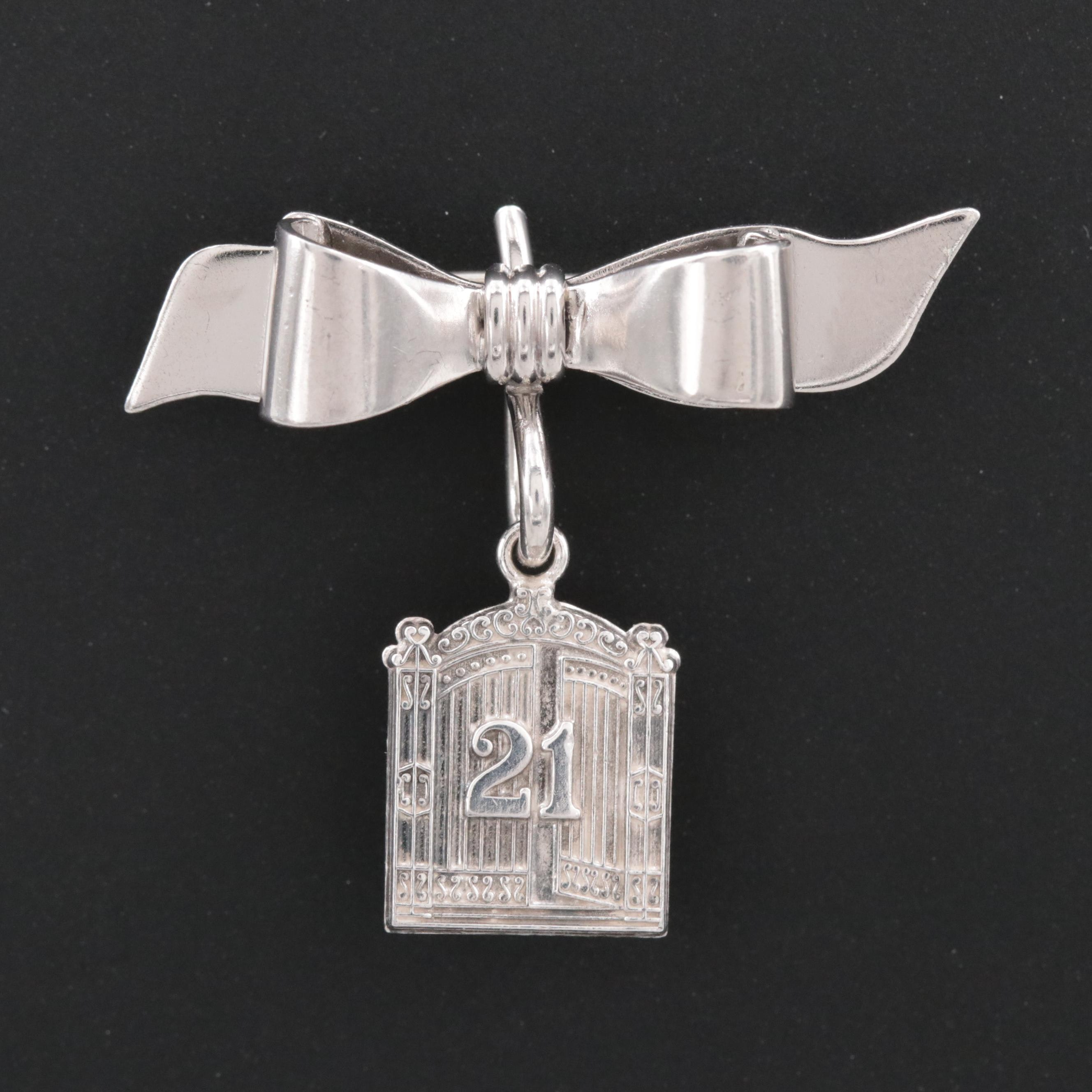 Hayward Sterling Silver Bow and Gate Pin