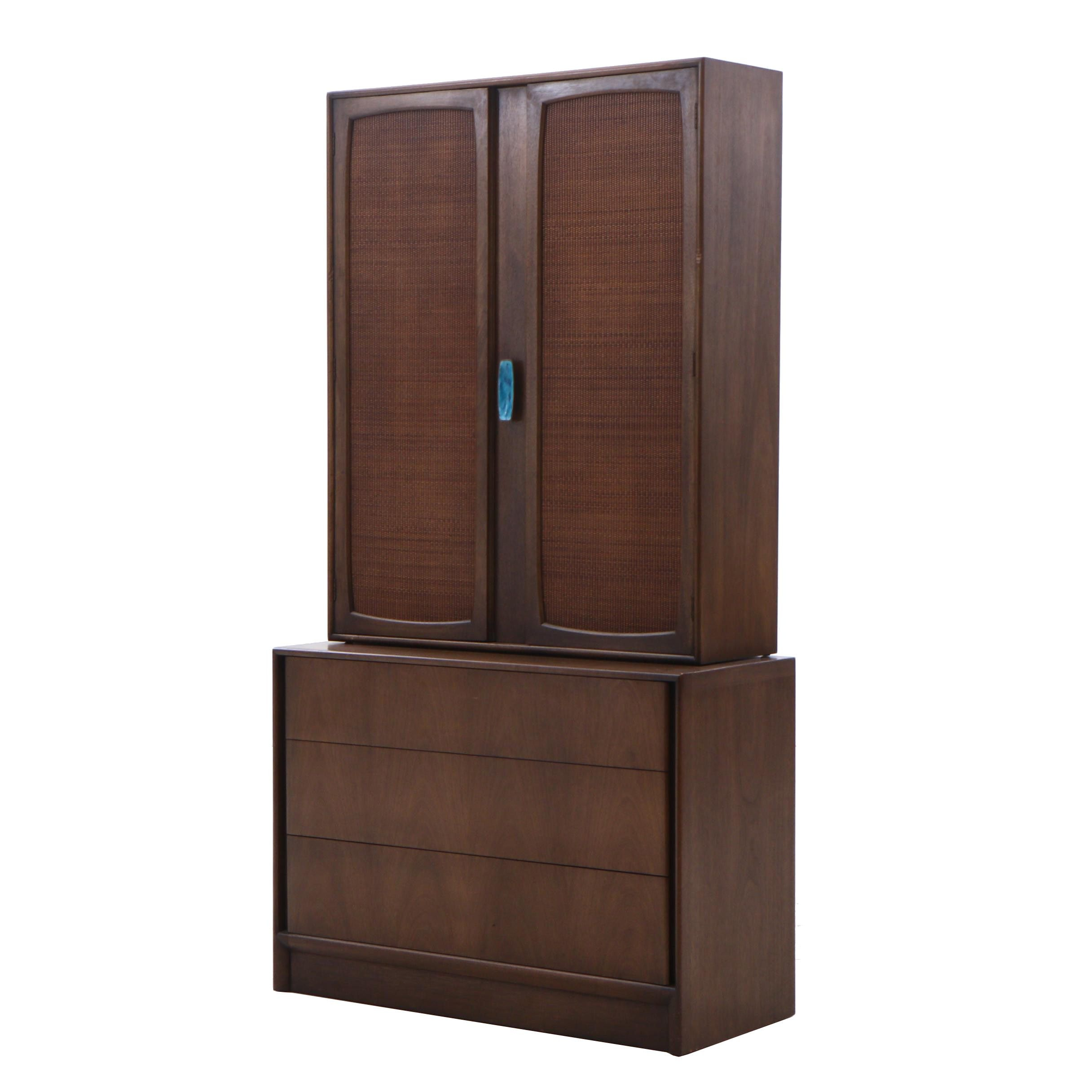 Mount Airy Furniture Mid Century Modern Walnut China Cabinet