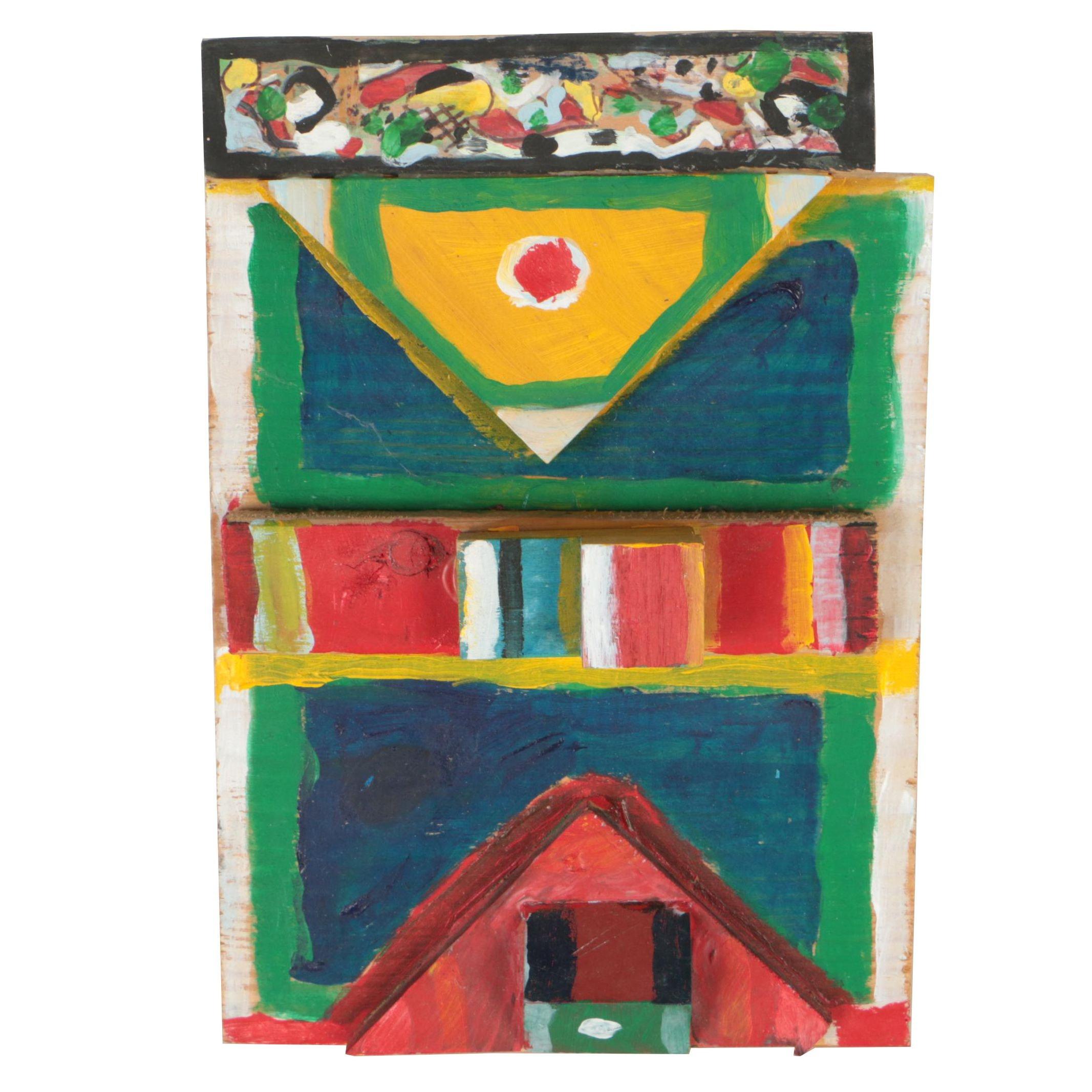 Chuck Barr Acrylic Painted Wood Composition