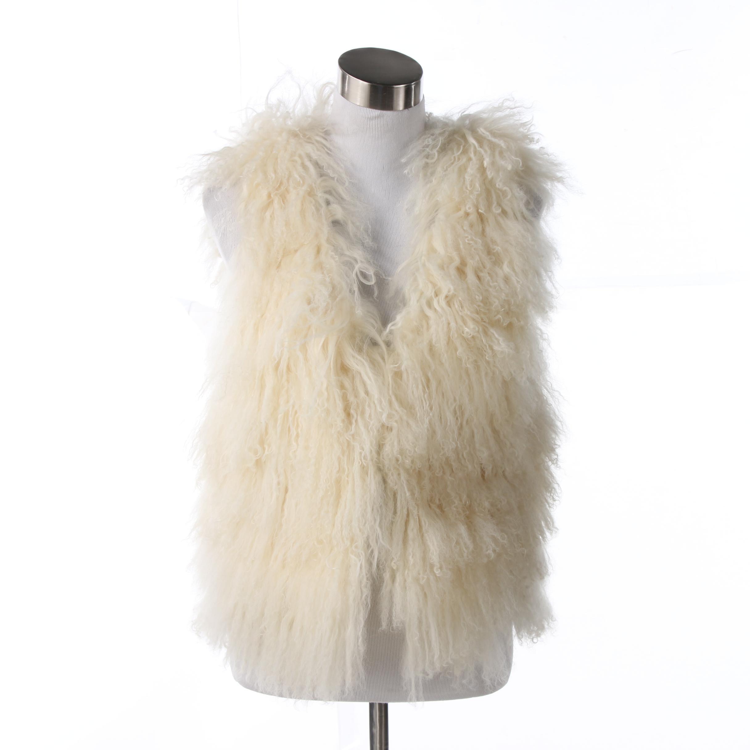 Pologeorgis Curly Lamb Fur Vest