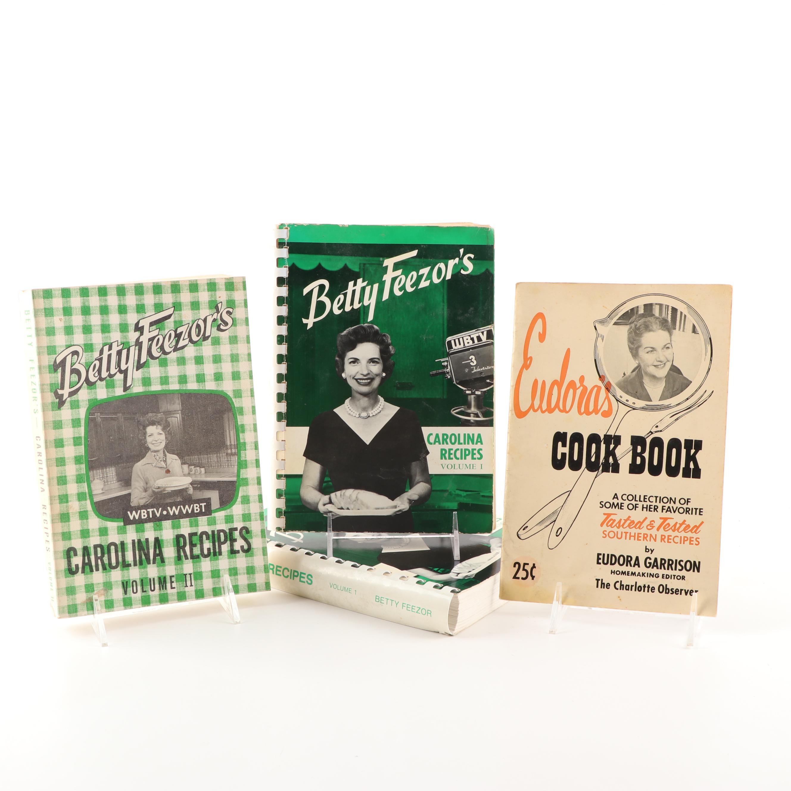 """""""Betty Feezor's Carolina Recipes"""" and """"Eudora's Cook Book"""""""