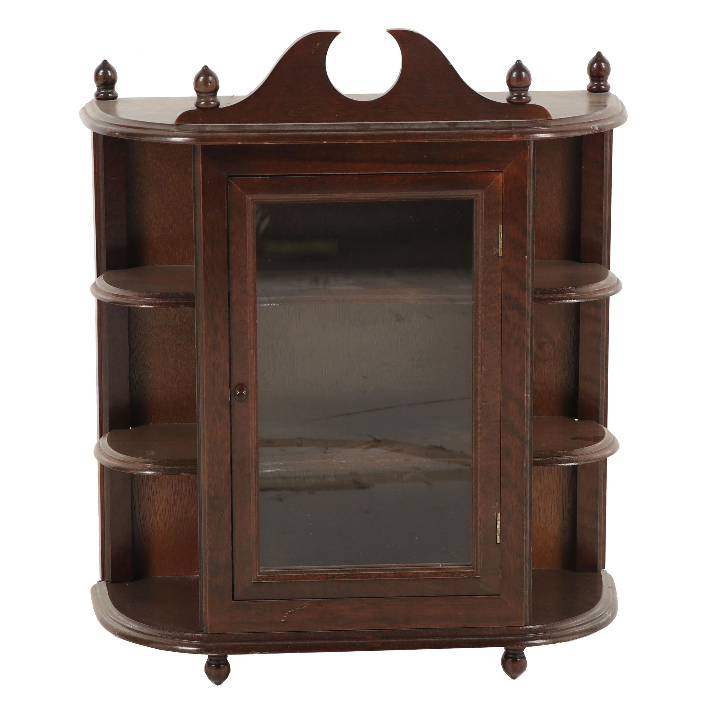 Federal Style Wooden Tabletop Display Cabinet, Mid to Late 20th Century