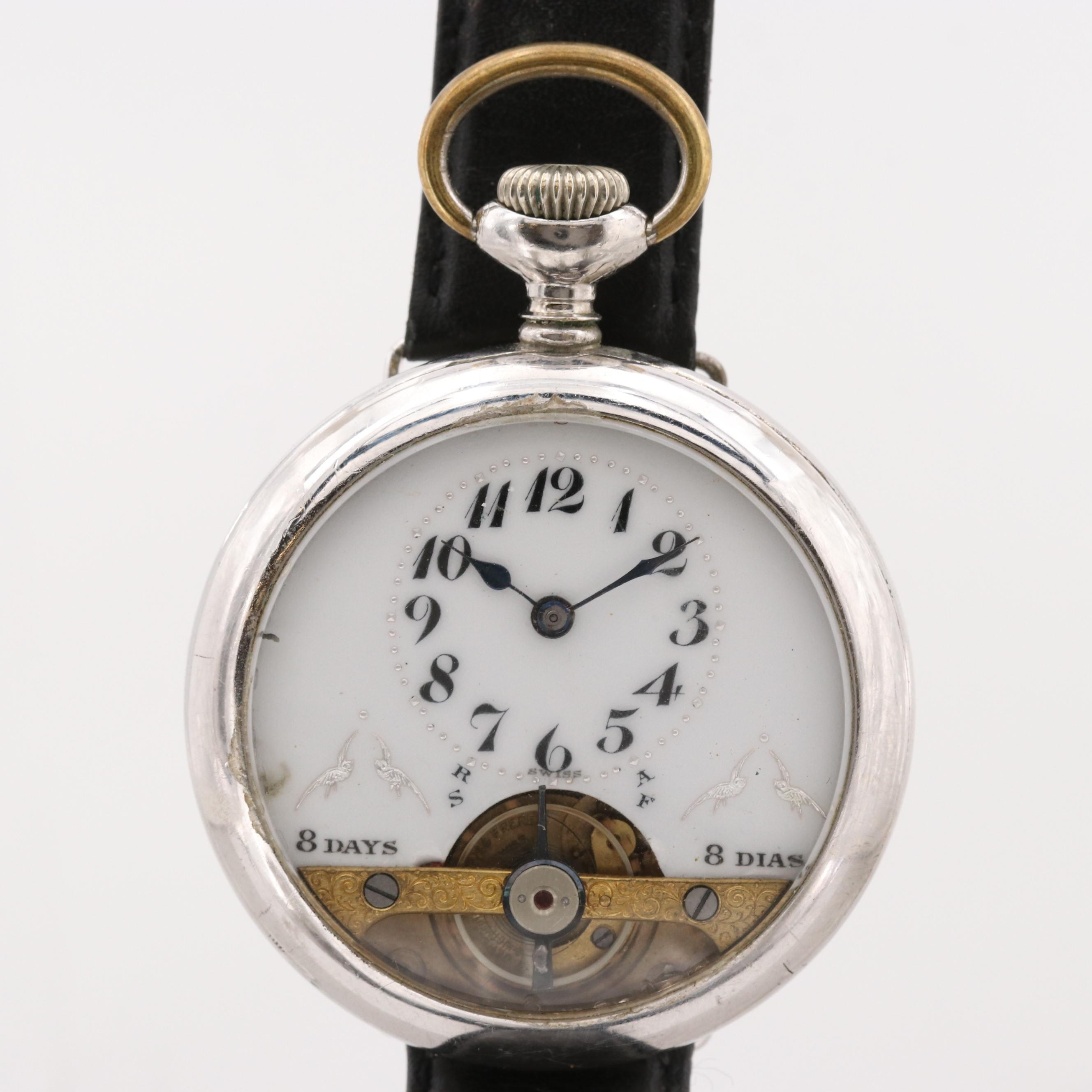 WYSS Freres Eight Day Pocket Watch Conversion