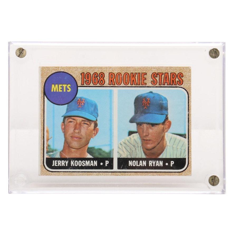 1968 Nolan Ryan New York Mets 177 Topps Rookie Baseball Card