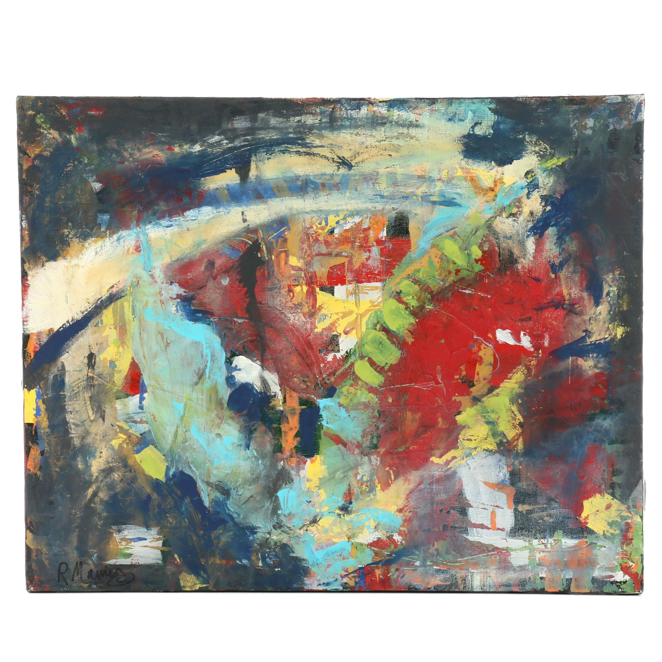 Rebecca Manns Contemporary Abstract Mixed Media Painting