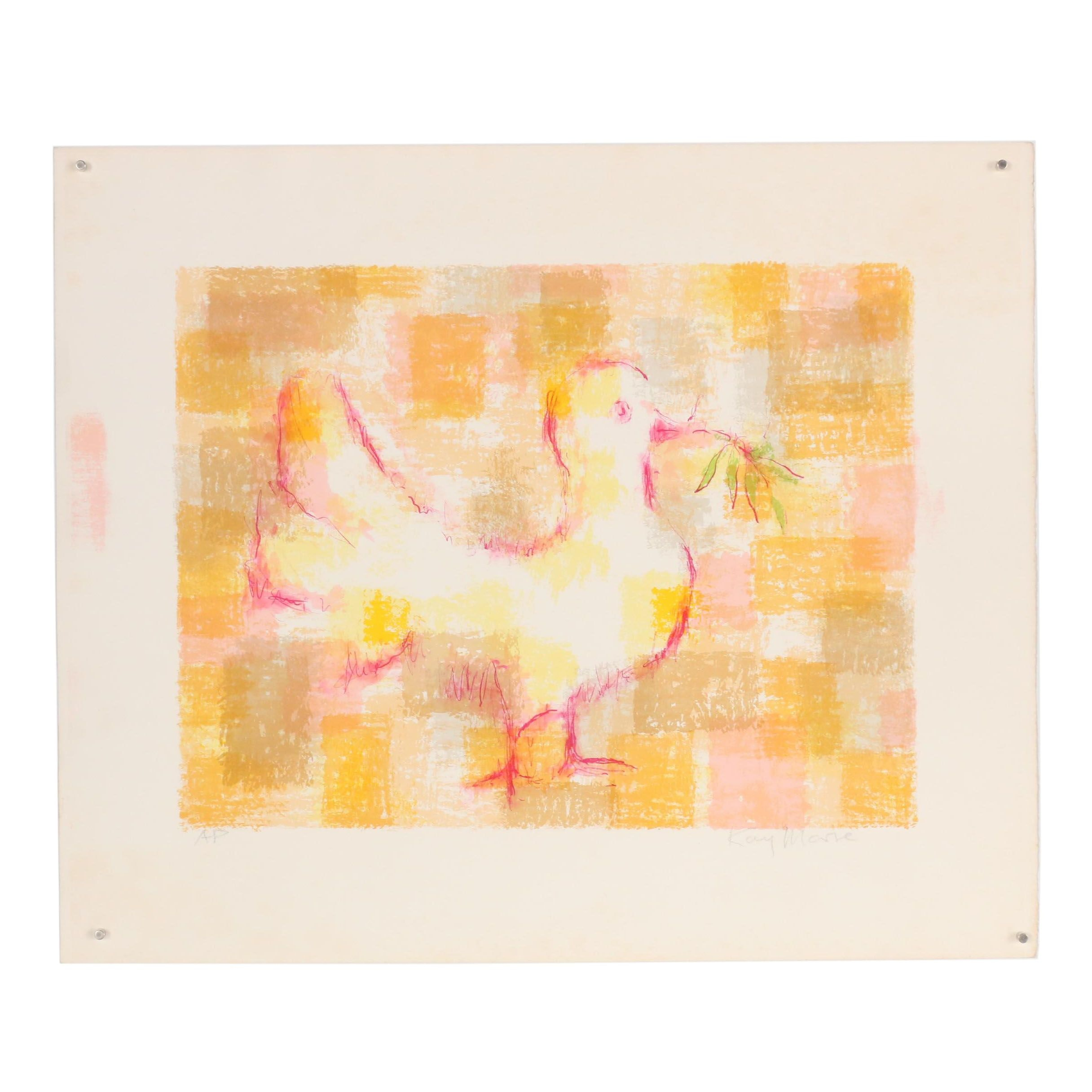 """Color Lithograph """"Peace Emerging"""""""