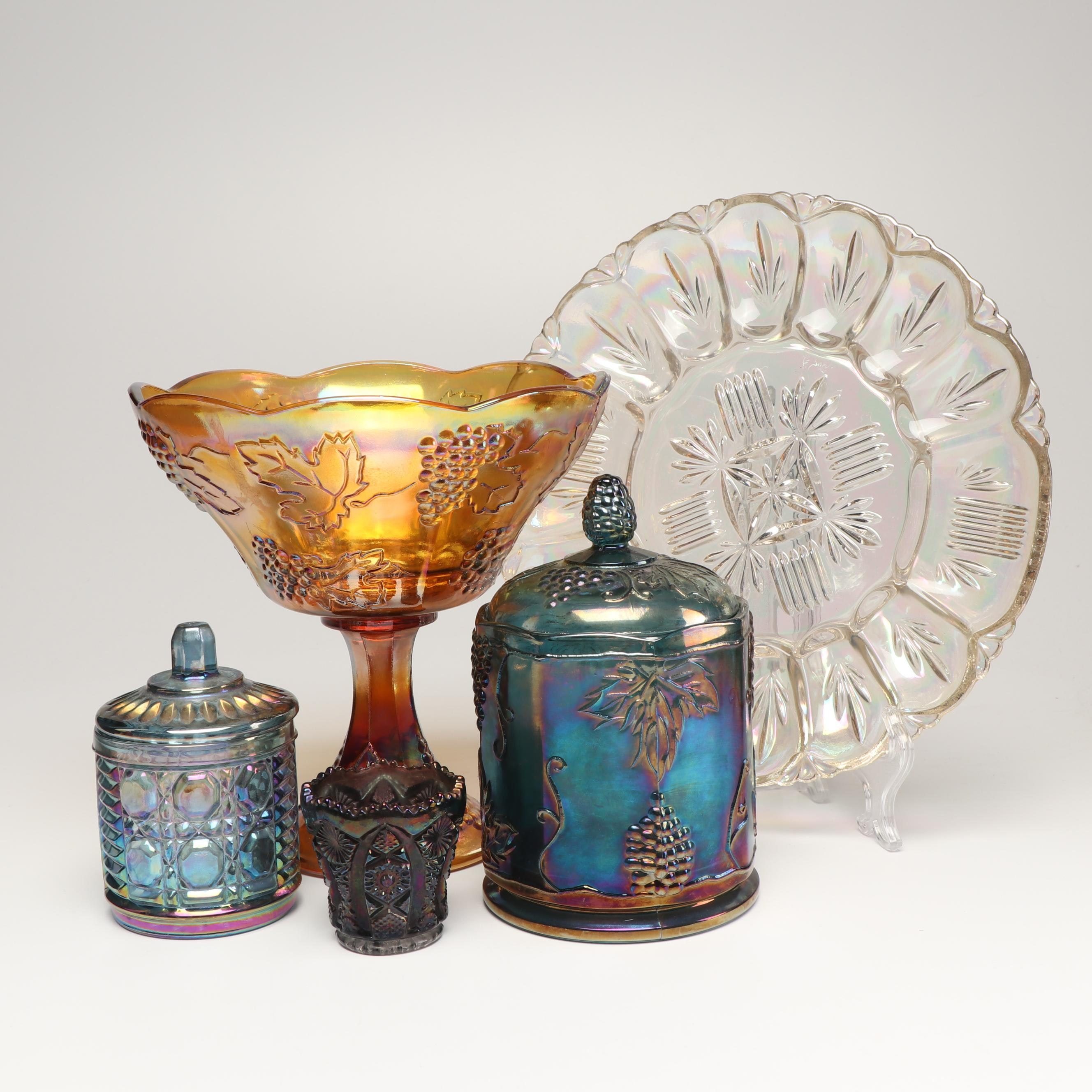 Carnival Tableware Pieces Including Imperial, Federal and Indiana