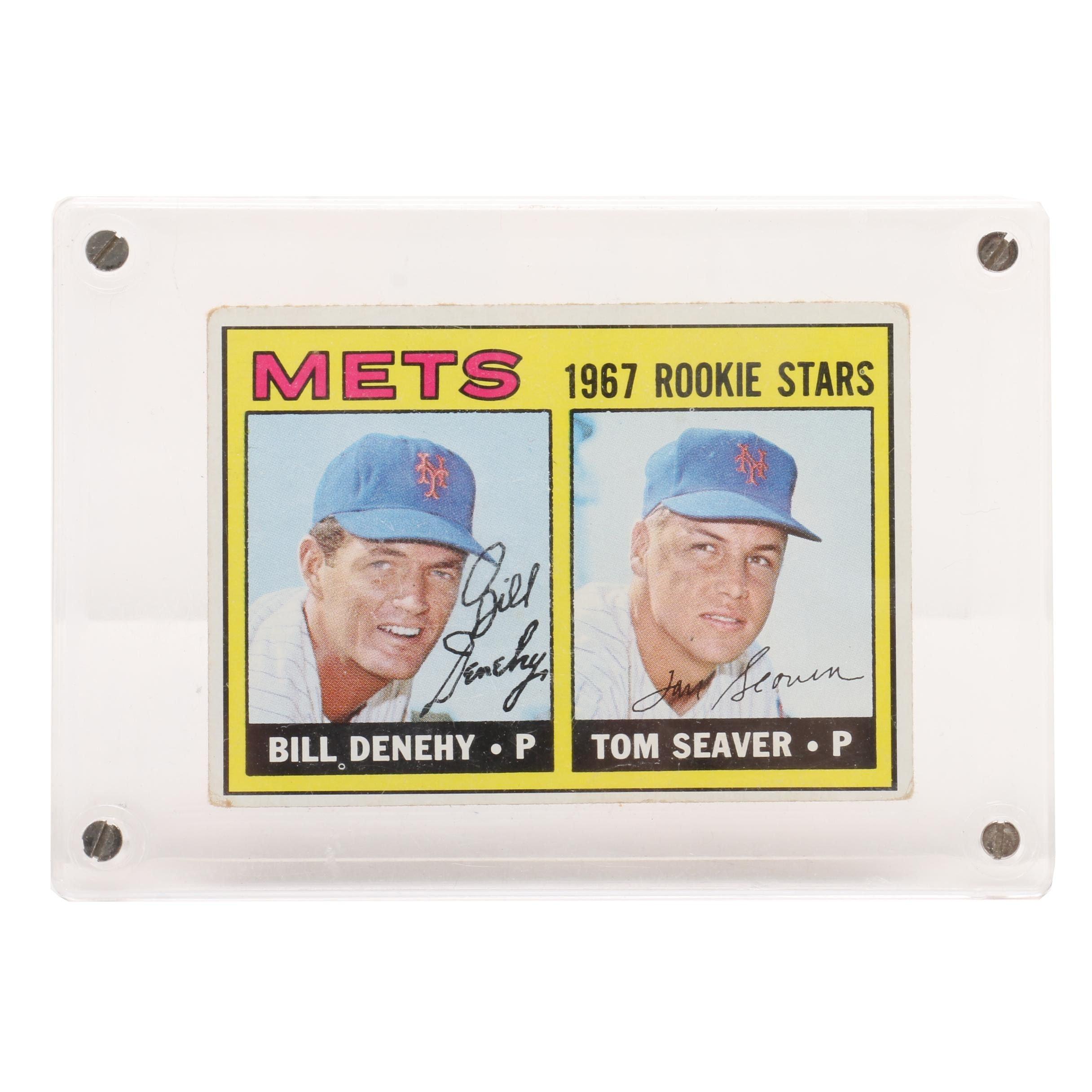1967 Tom Seaver New York Mets Topps Rookie Baseball Card