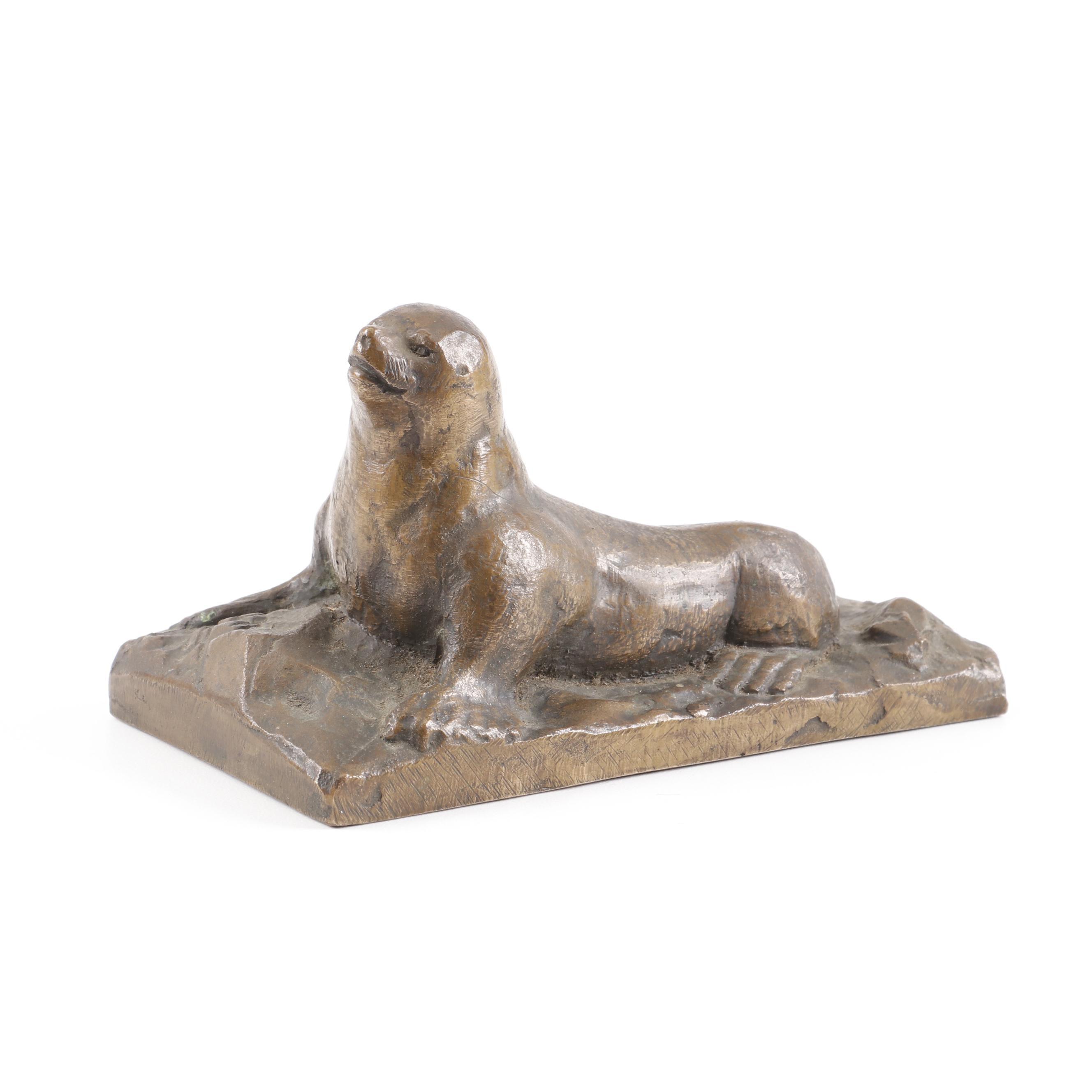 William Hoppe Bronze Sculpture of a Sea Lion