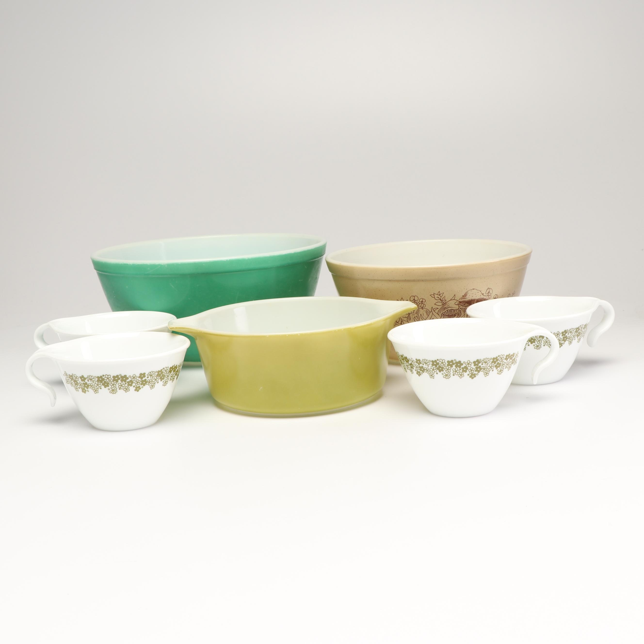 Pryex and Other Corning Glass Bowls, 1970s-1980s