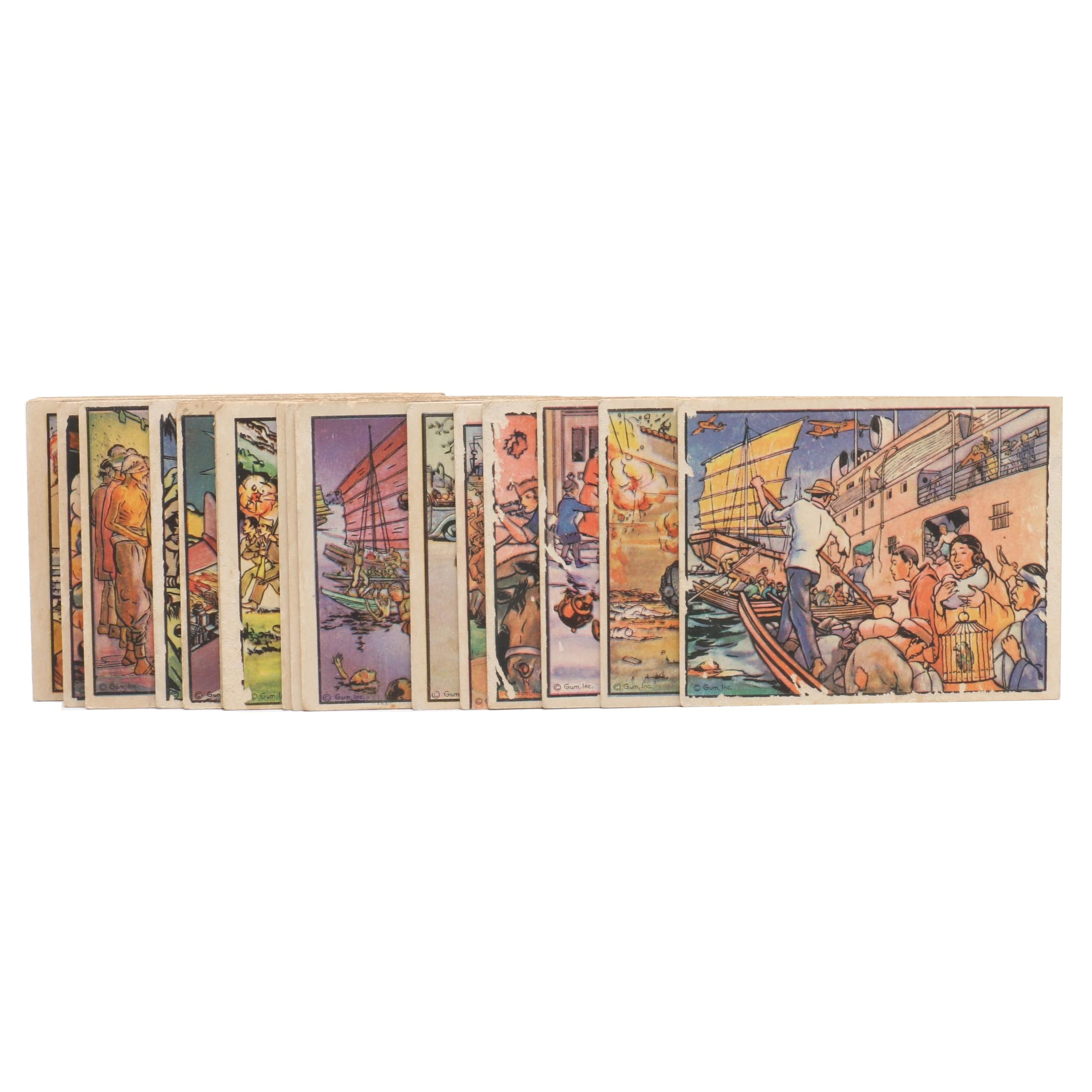 """1938 """"Horrors of War"""" Military Gum Inc. Trading Cards"""