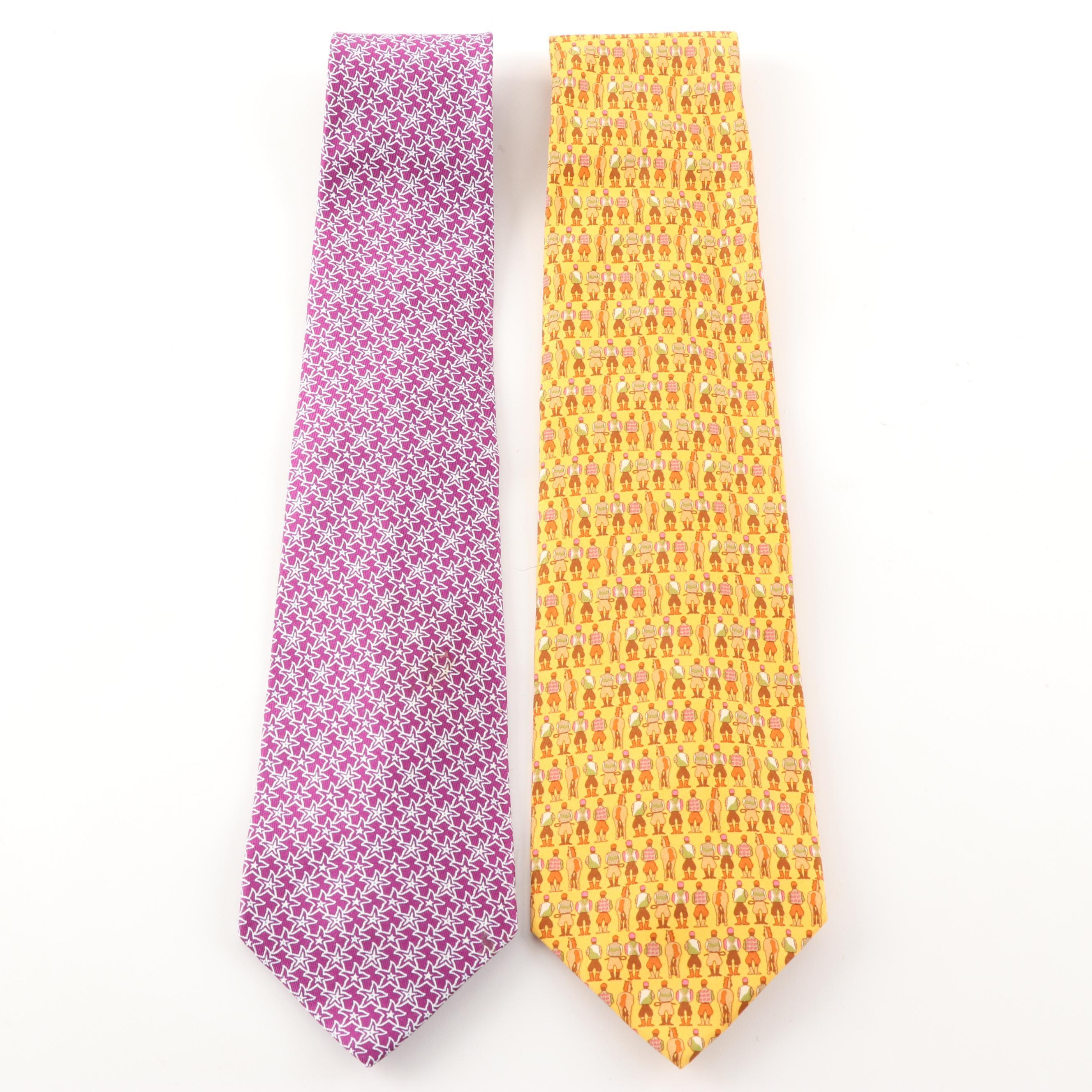 Salvatore Ferragamo Italian Silk Neckties
