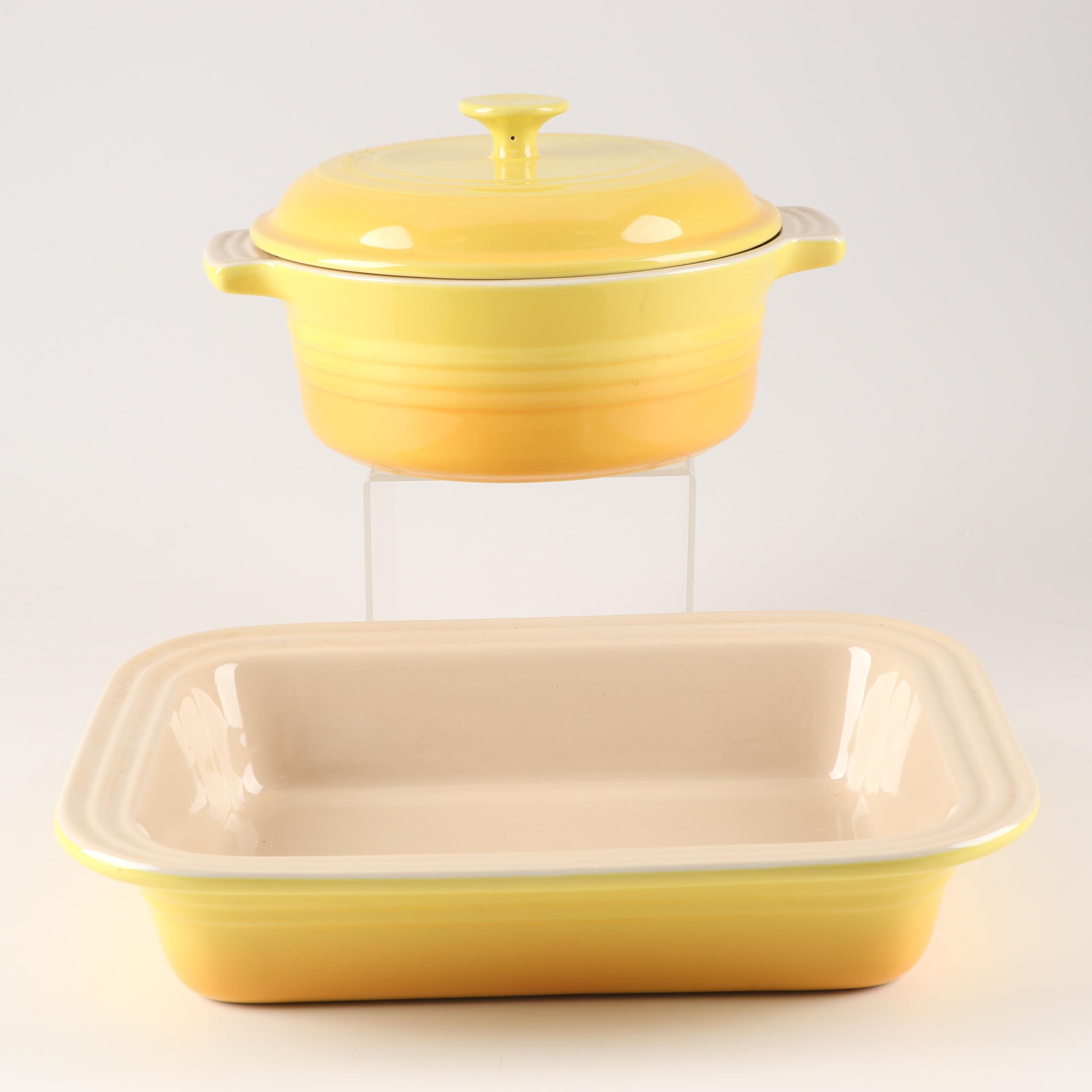 Le Creuset Roasting Pan and Casserole Dish