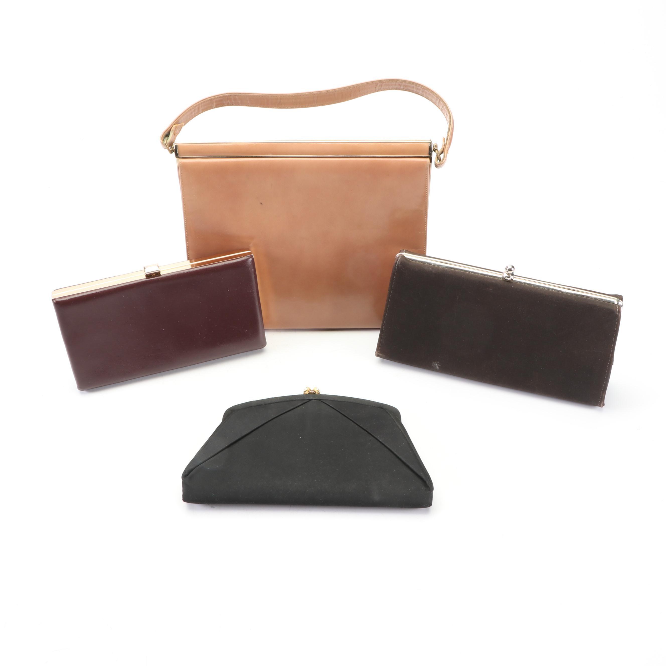 Clutches and Handbag Including Andrea Geller, 1960s Vintage