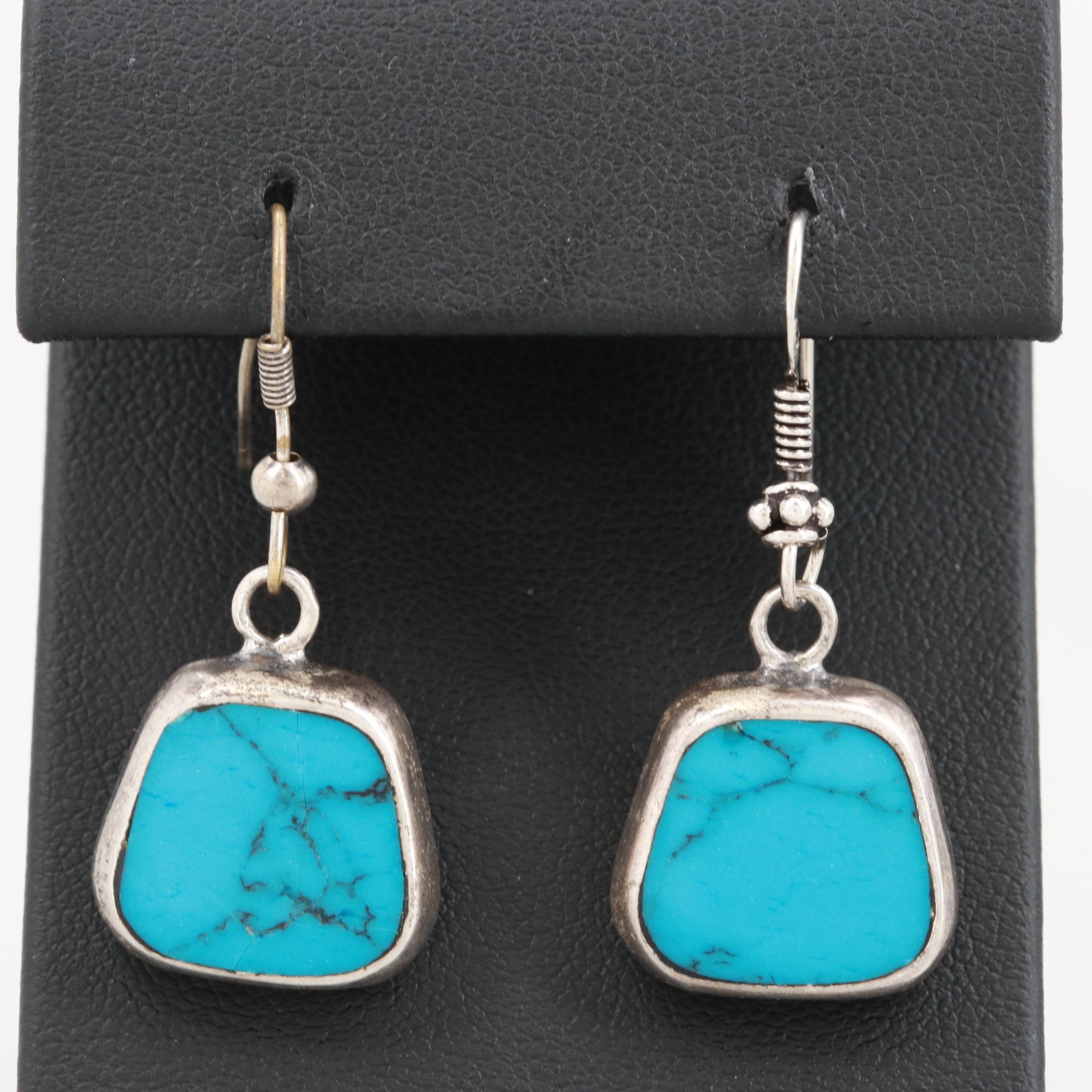 Mexican Sterling Silver Turquoise Earrings