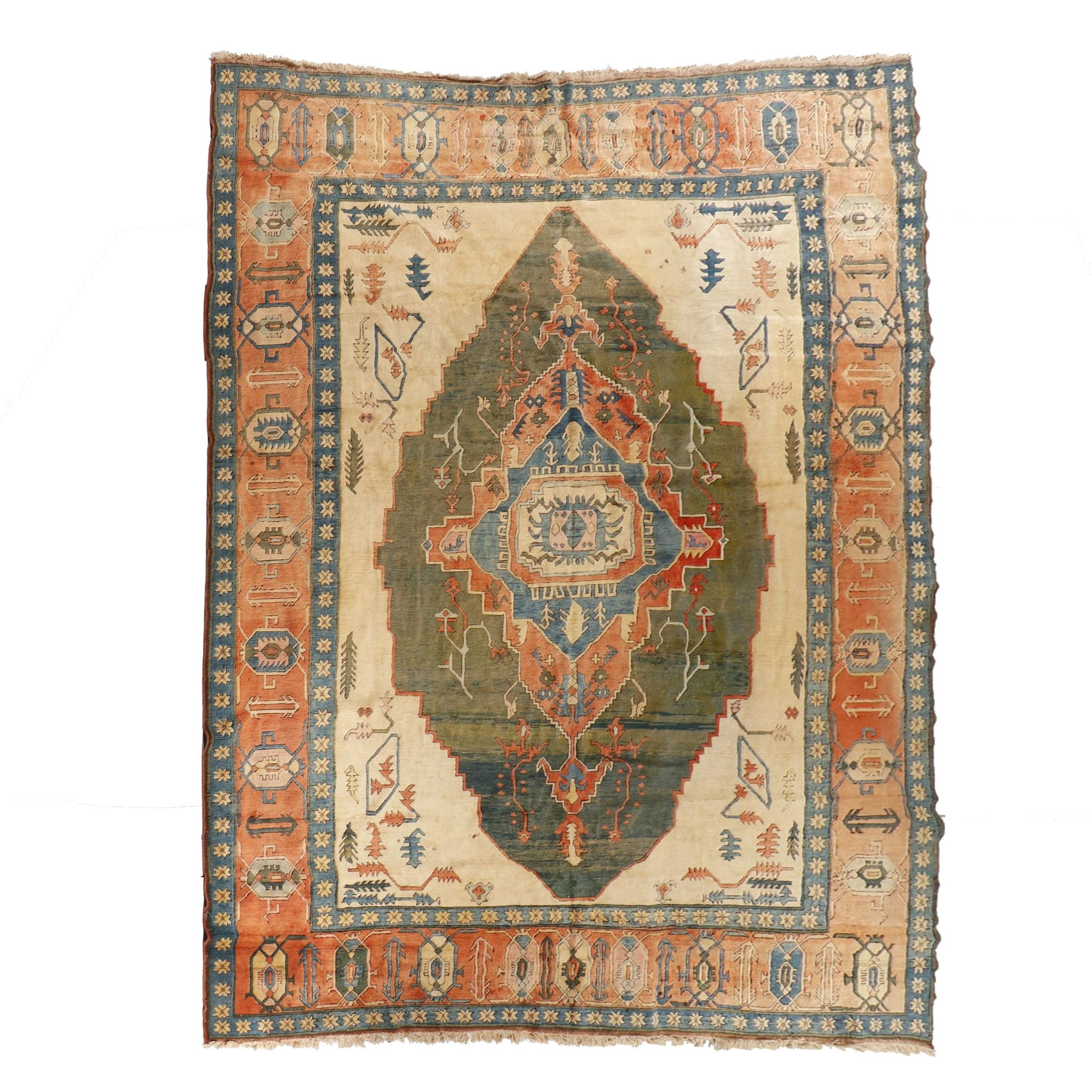 Hand-Knotted Turkish Konya Wool Room Sized Rug