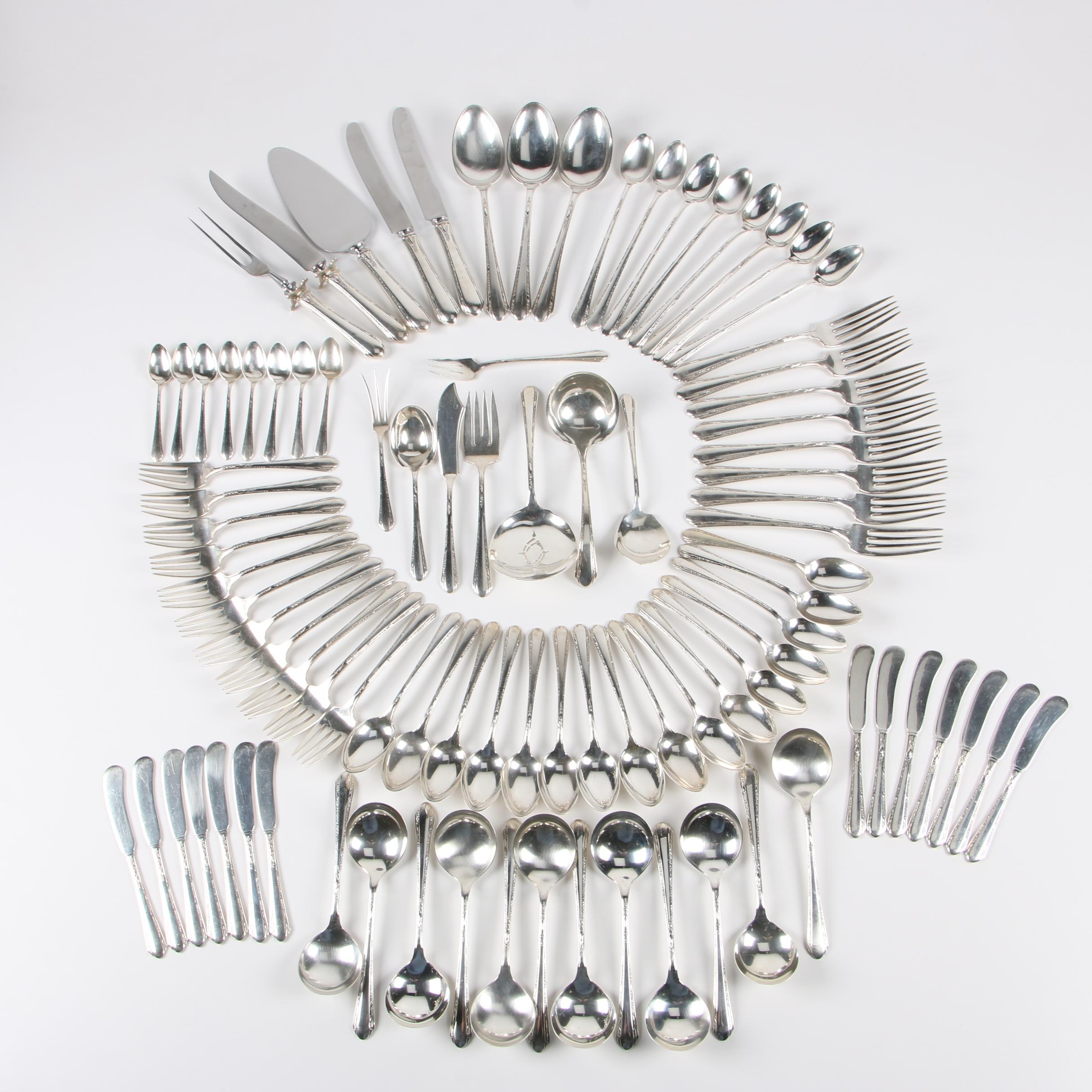 """Towle """"Chased Diana"""" Sterling Silver Flatware, Early/Mid 20th Century"""