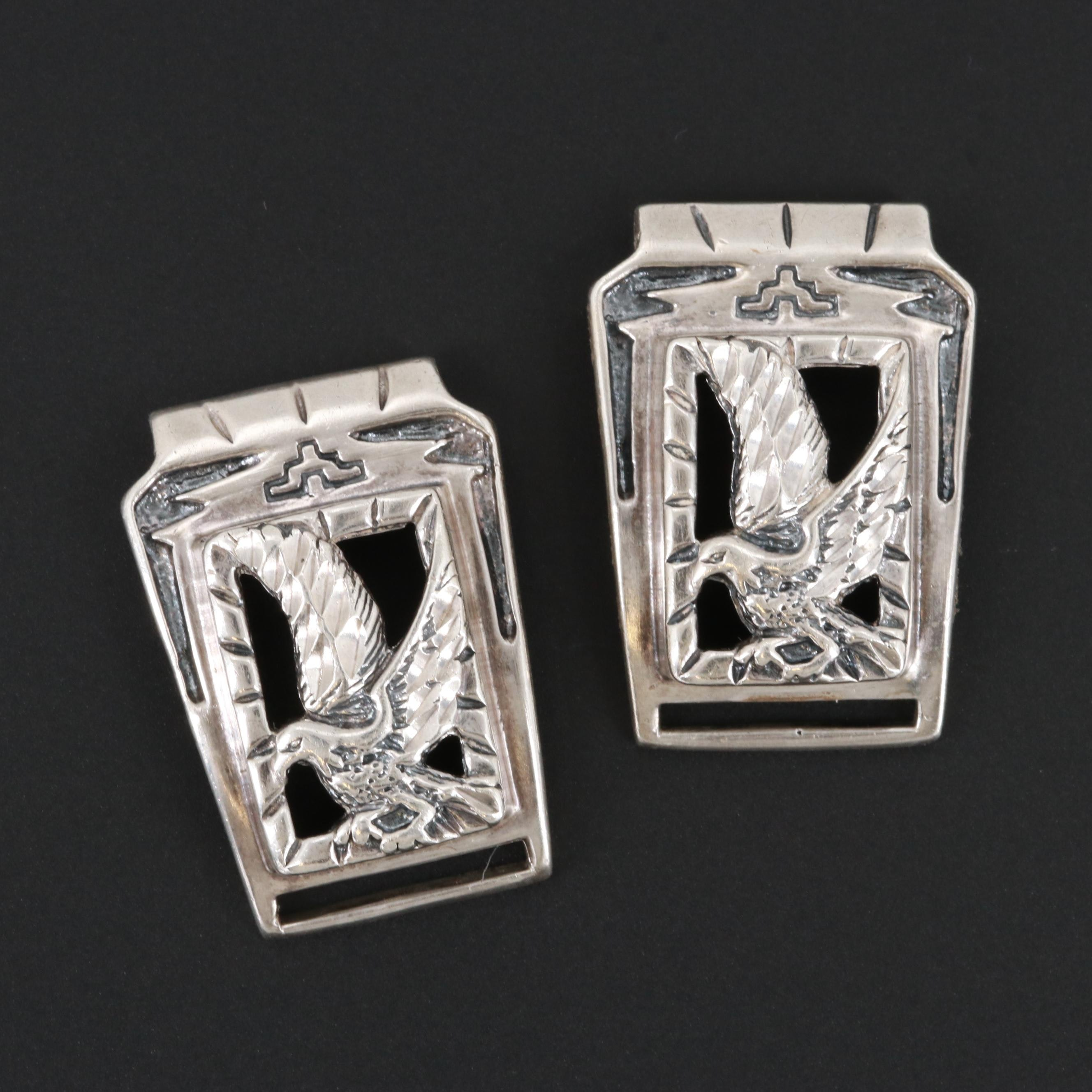 Southwest Style Sterling Silver Eagle Watch Lugs