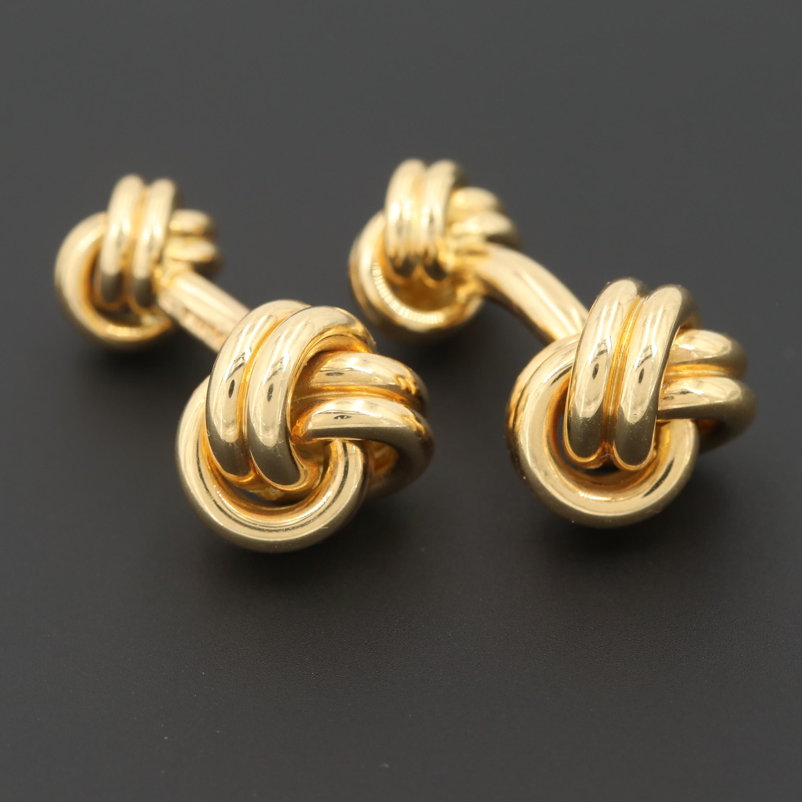 Lindsay & Co. 18K Yellow Gold Knot Cufflinks