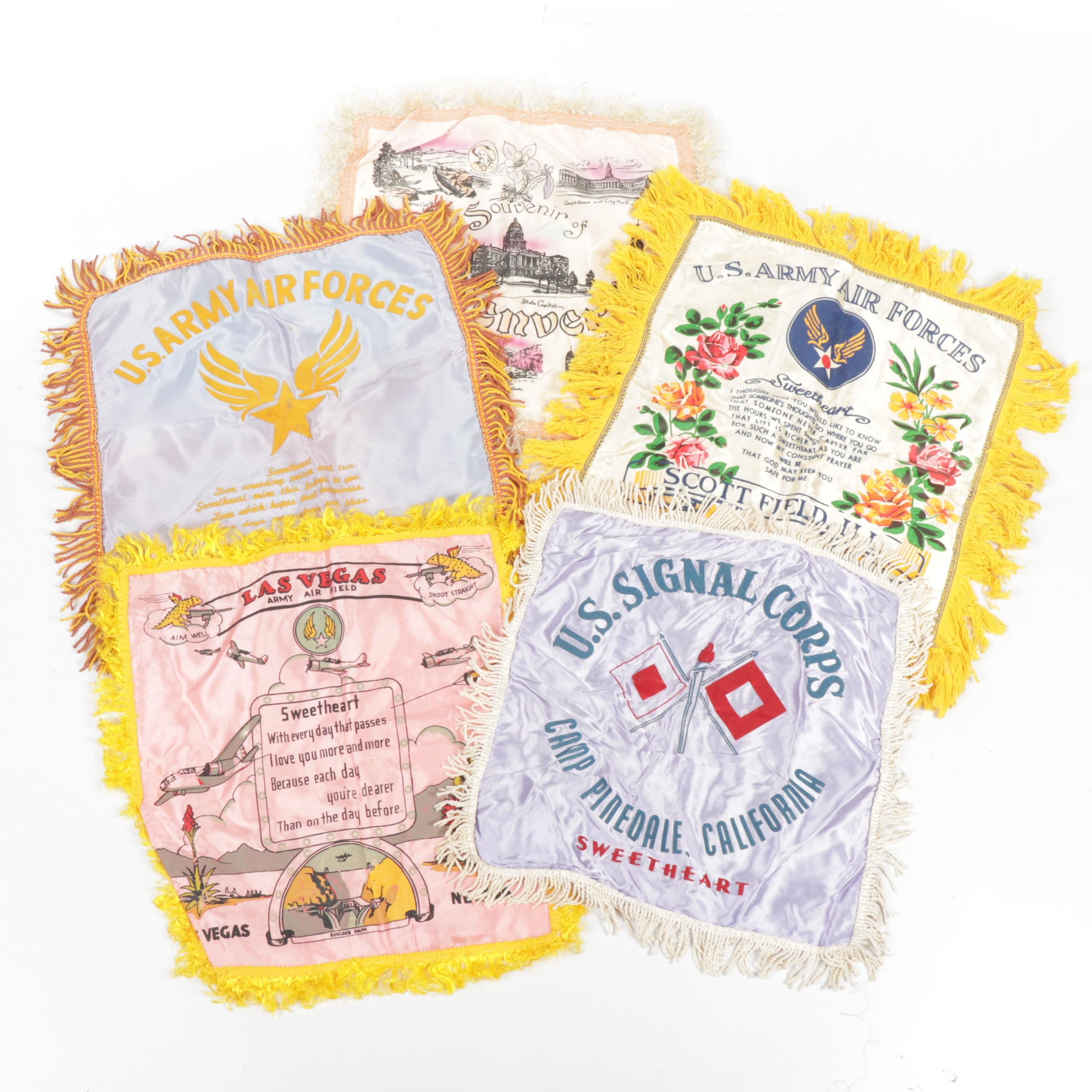 U.S Army and Air Force Sweetheart Pillow Linens