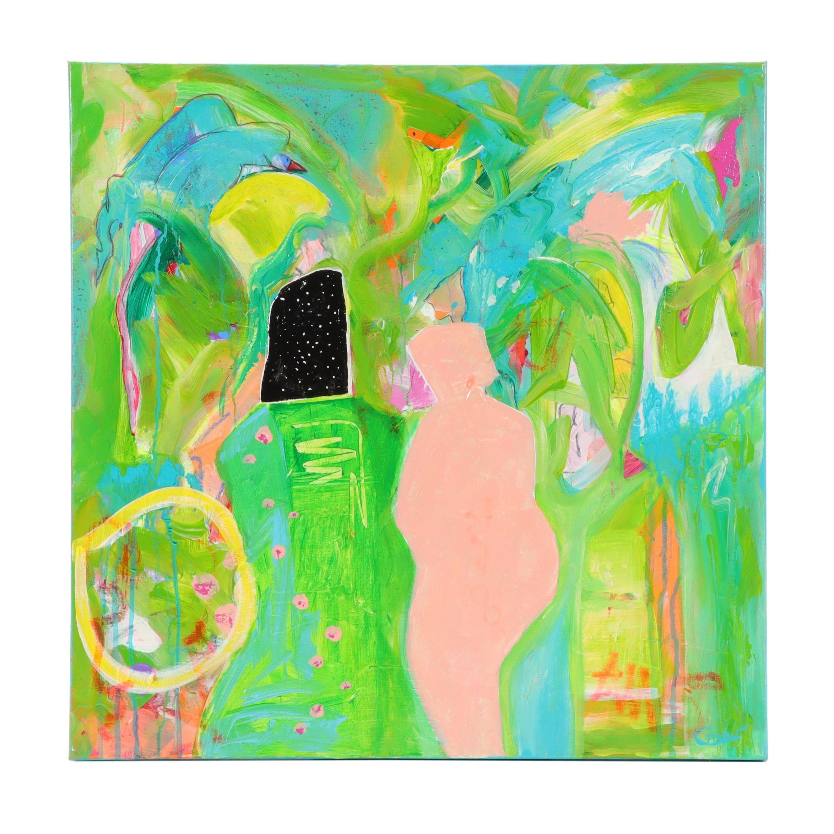 "Susan Crew Acrylic Painting ""Portals"""