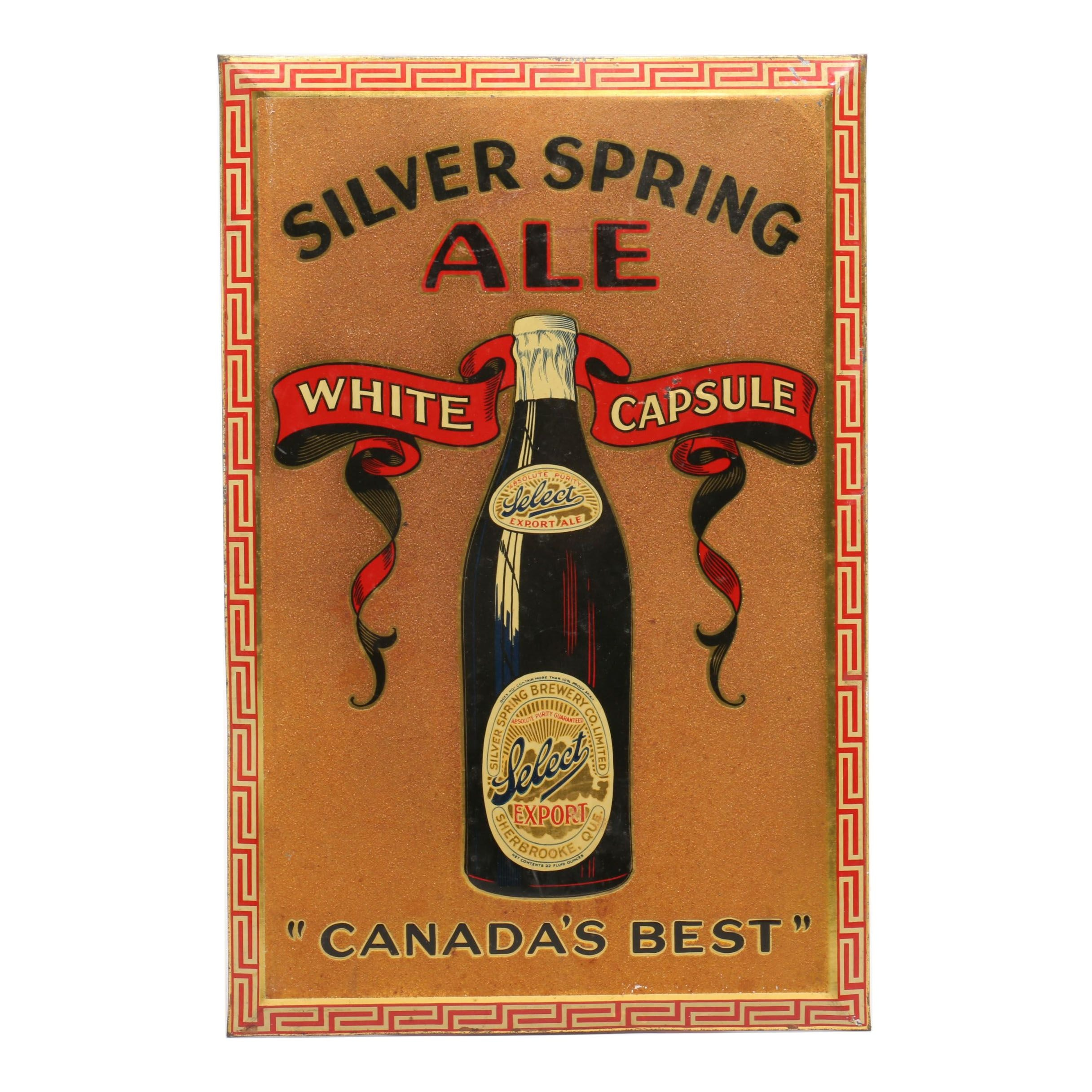 Silver Springs Brewery Co. Limited Advertising Sign, Mid-Century