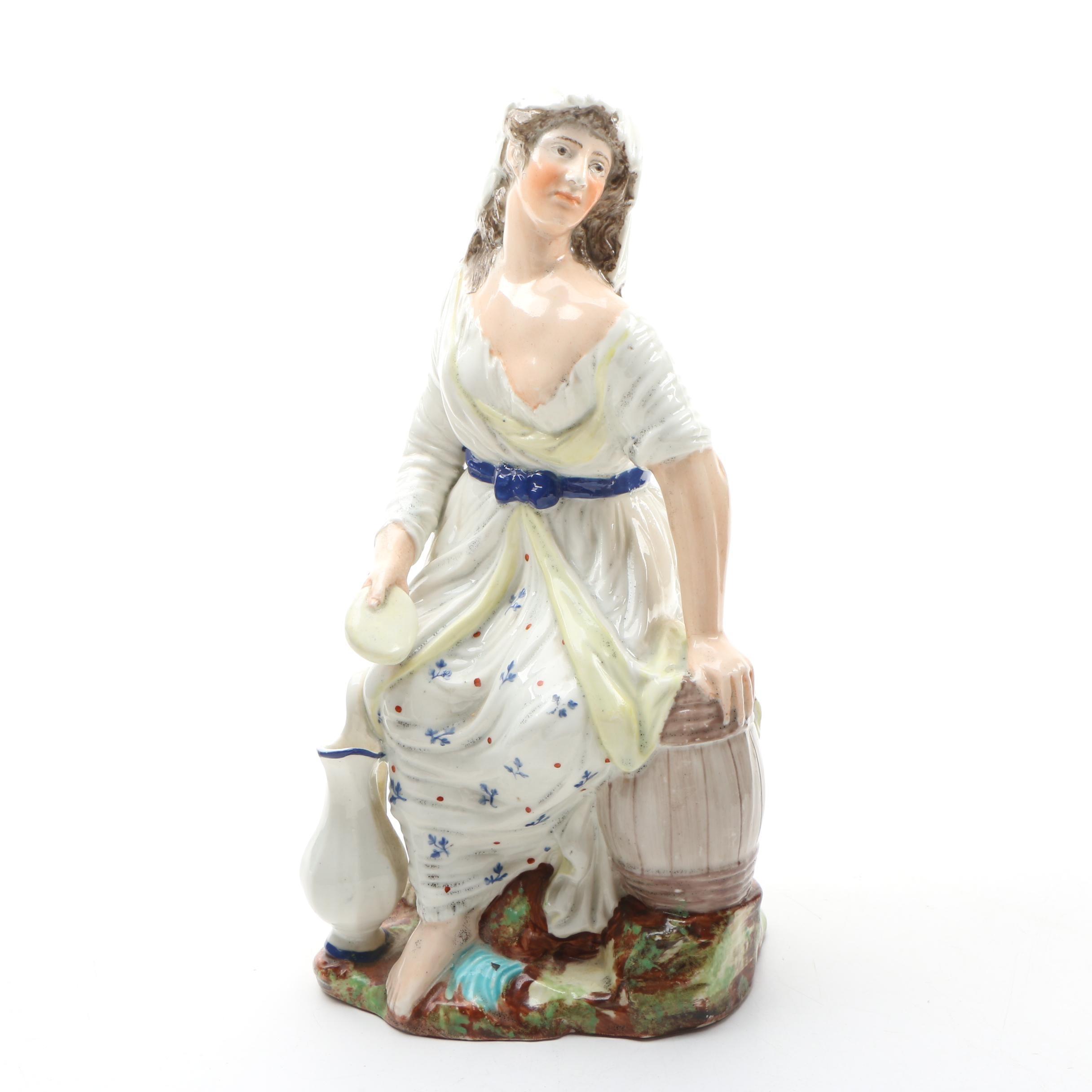 Staffordshire Ceramic Figurine of Woman, Late 20th Century