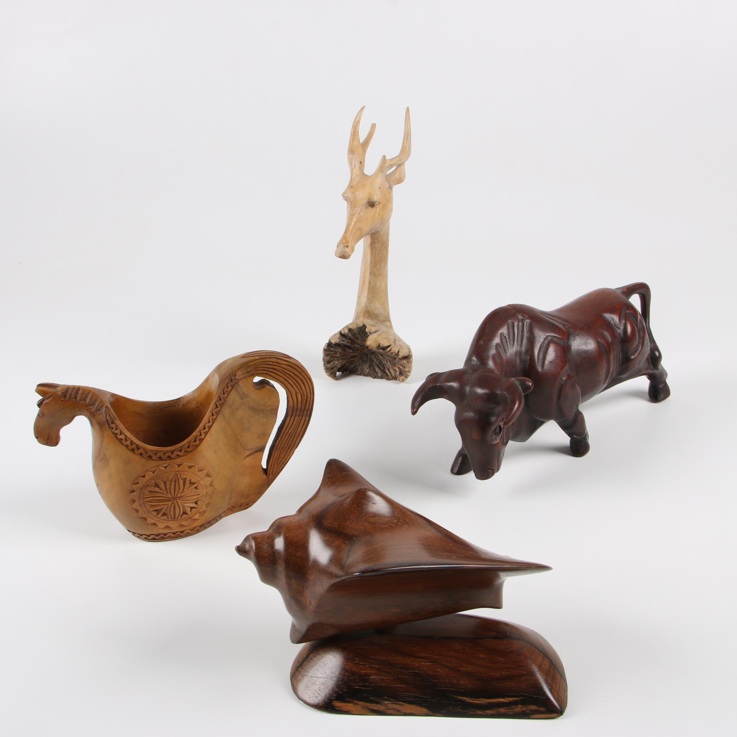 Wooden carvings of animals ebth