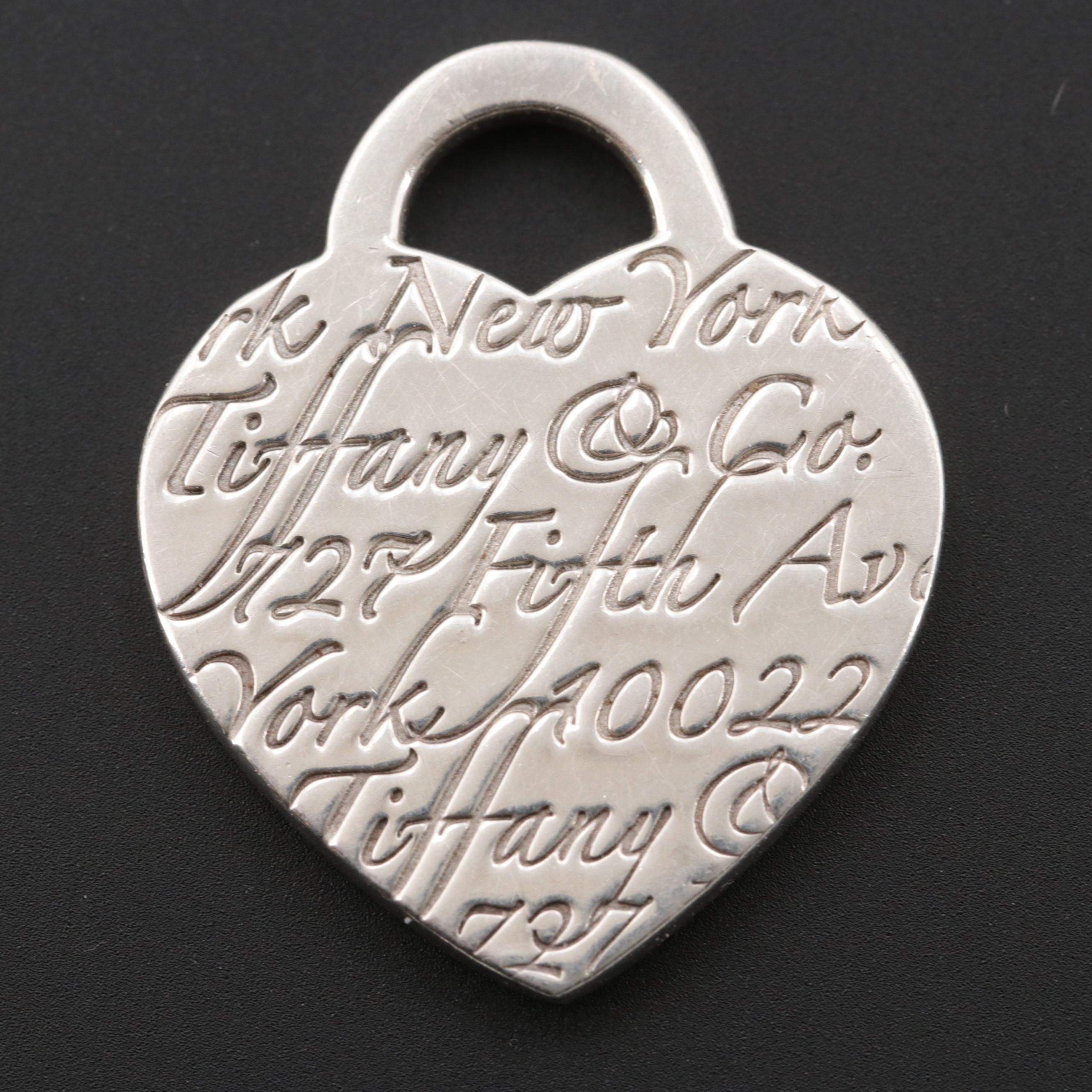 "Tiffany & Co. ""Notes Collection"" Sterling Silver Heart Pendant"