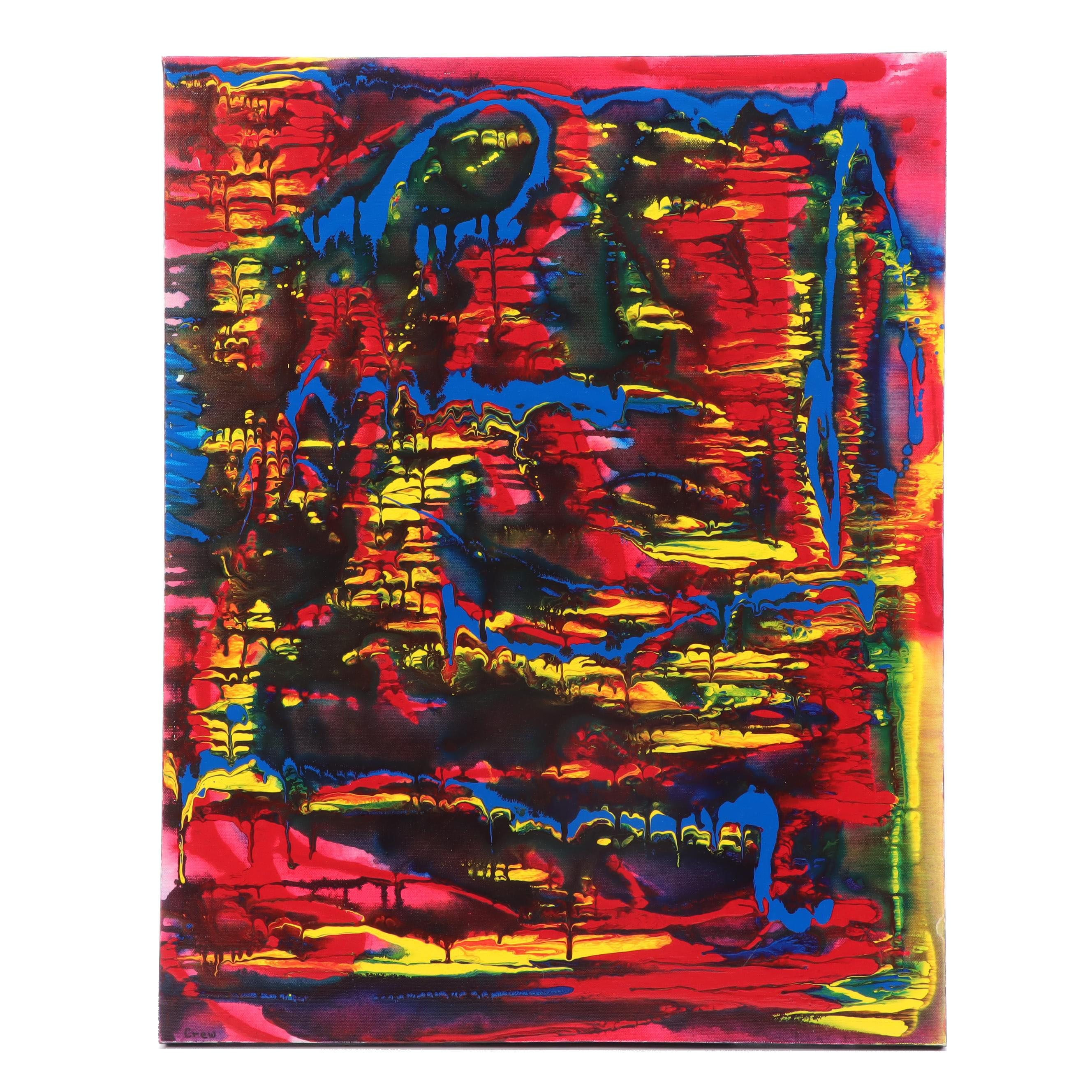 Susan Crew Abstract Acrylic Painting