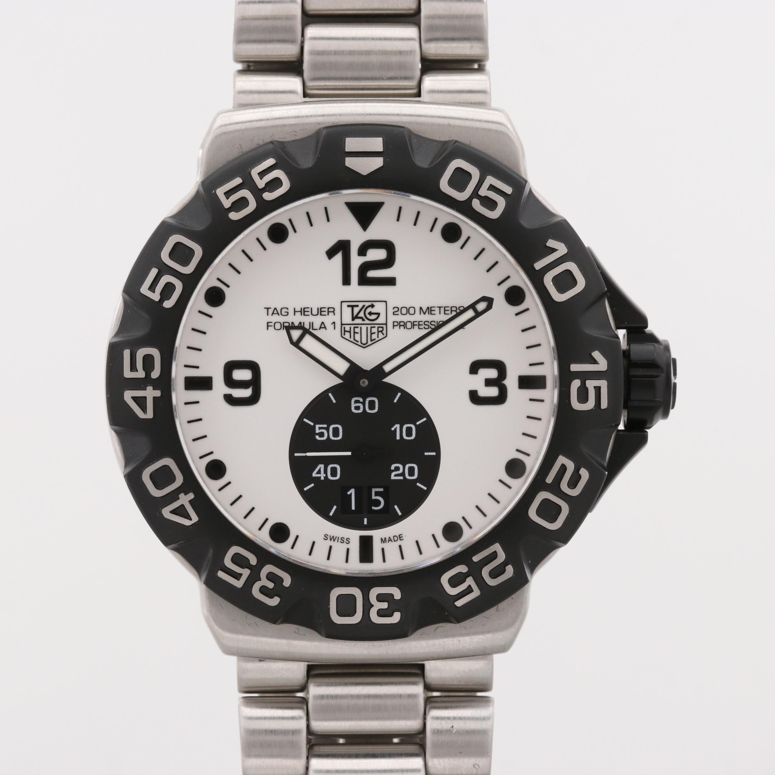 TAG Heur Formula 1 Stainless Steel Quartz Wristwatch