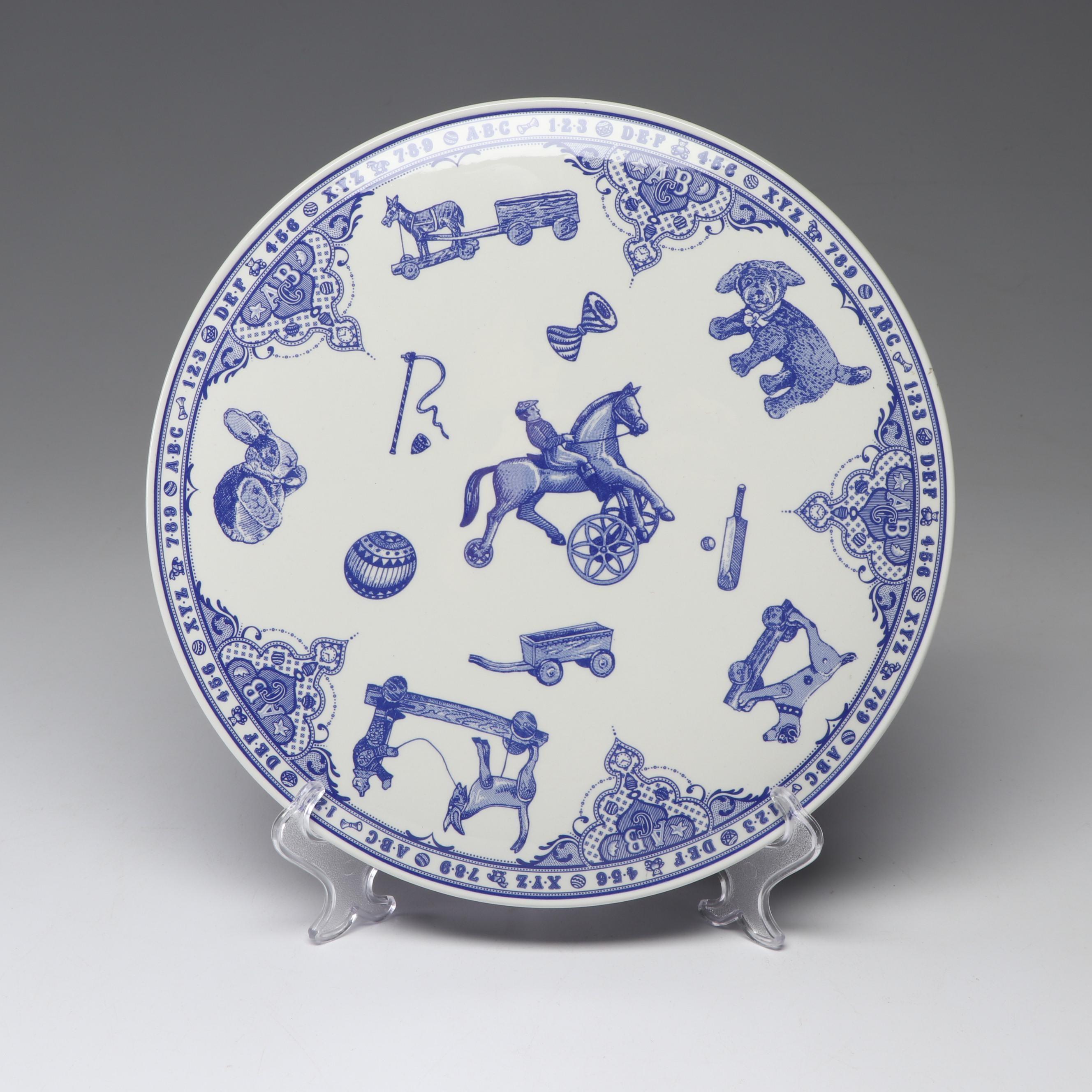 "Spode ""Edwardian Childhood"" Ceramic Cake Plate"