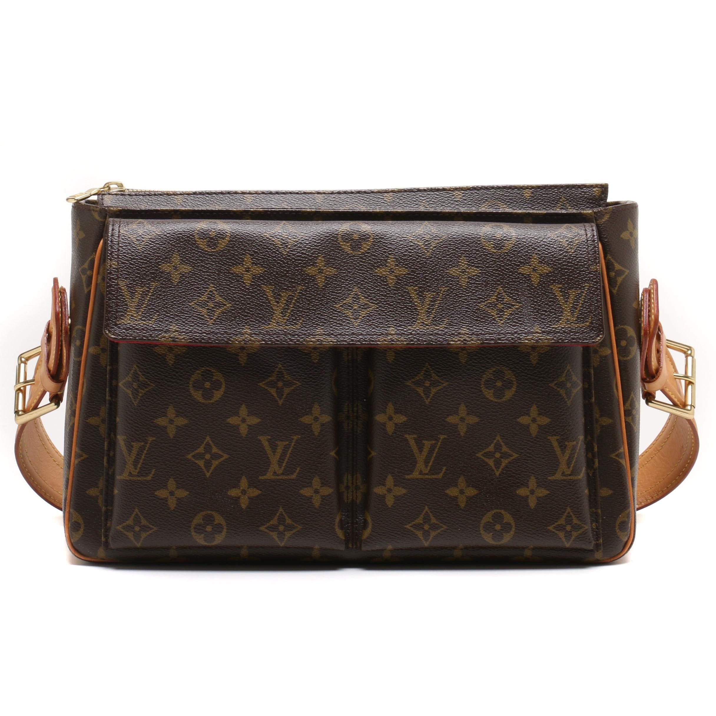 Louis Vuitton Paris Monogram Canvas Viva Cite GM Shoulder Bag