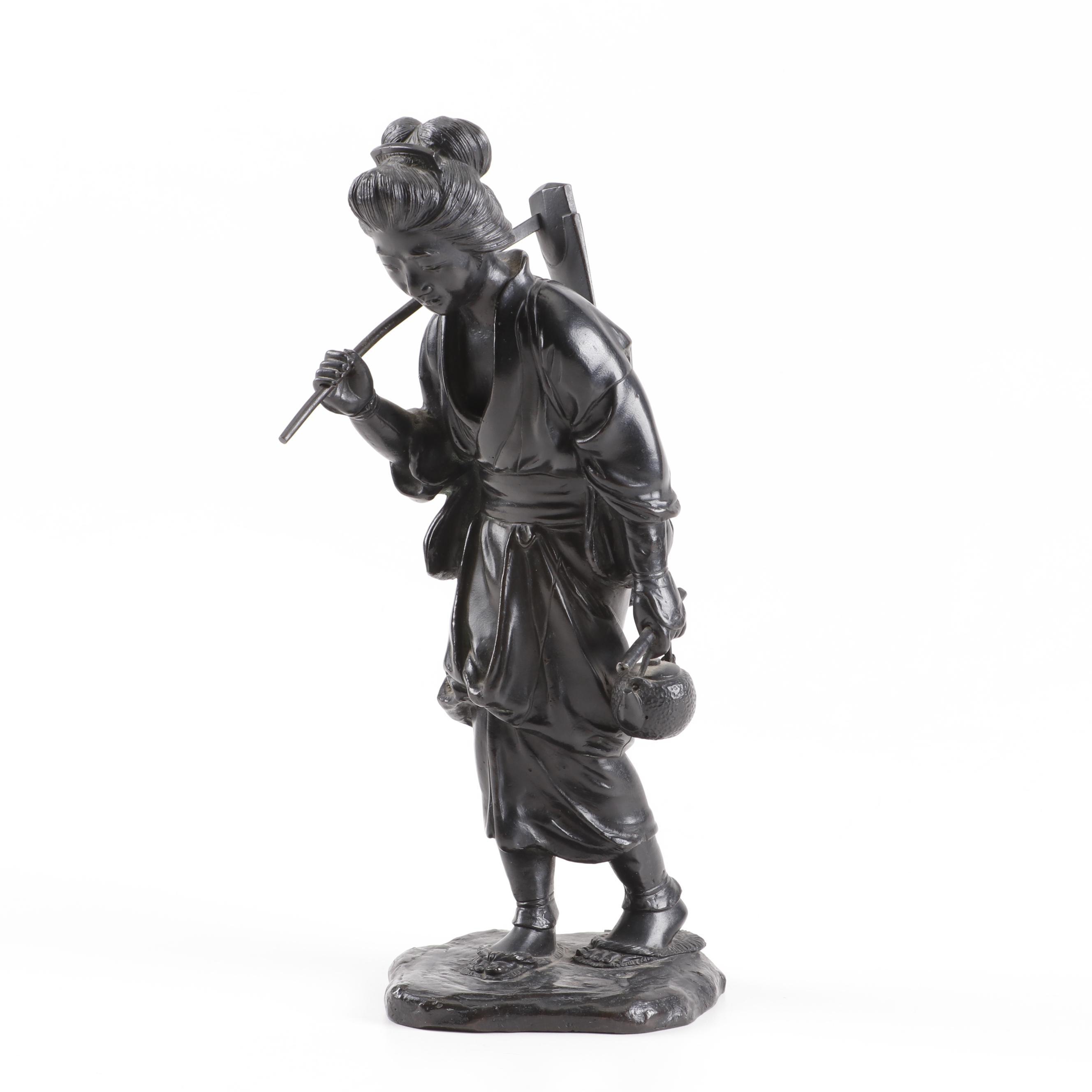 Genryusai Seiya Workshop Bronze Okimono Sculpture, Meiji Period
