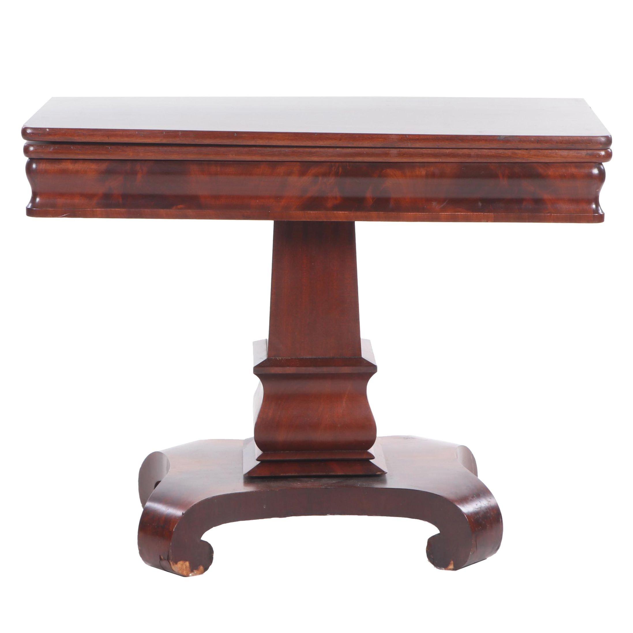 Empire Mahogany Games Table, Mid to Late 19th Century